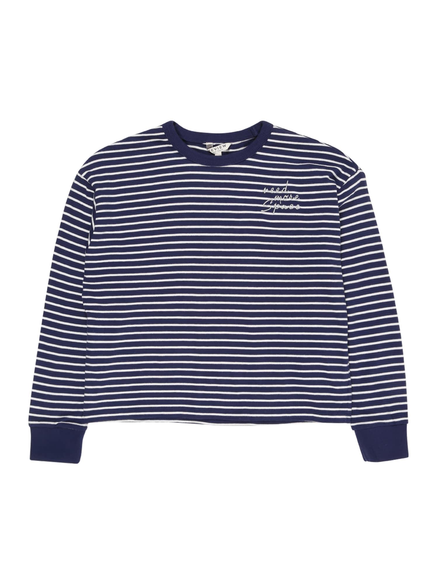 REVIEW FOR TEENS Marškinėliai balta / tamsiai mėlyna