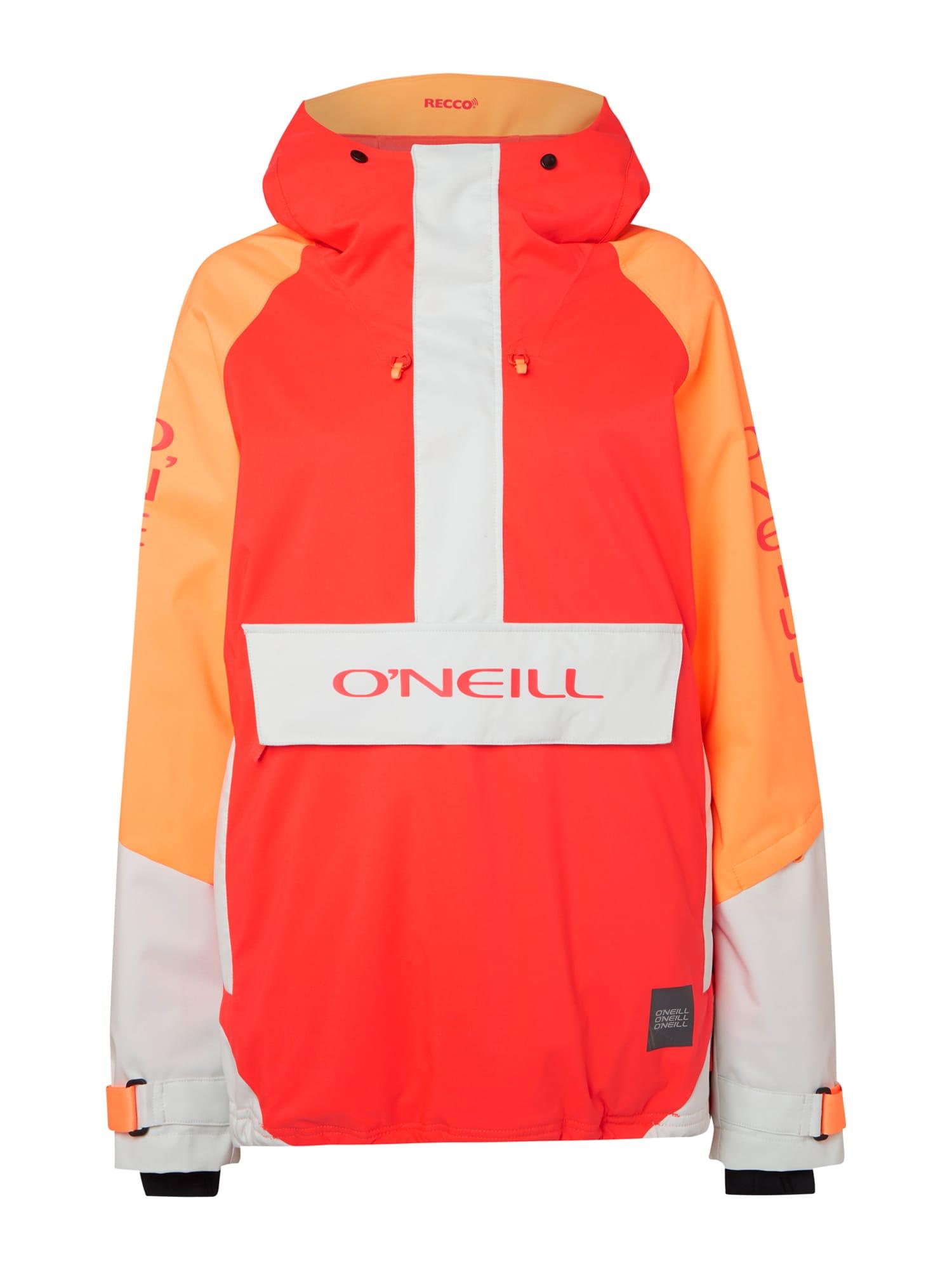 O'NEILL Sportinė striukė 'ORIGINAL' balta / oranžinė / ugnies raudona