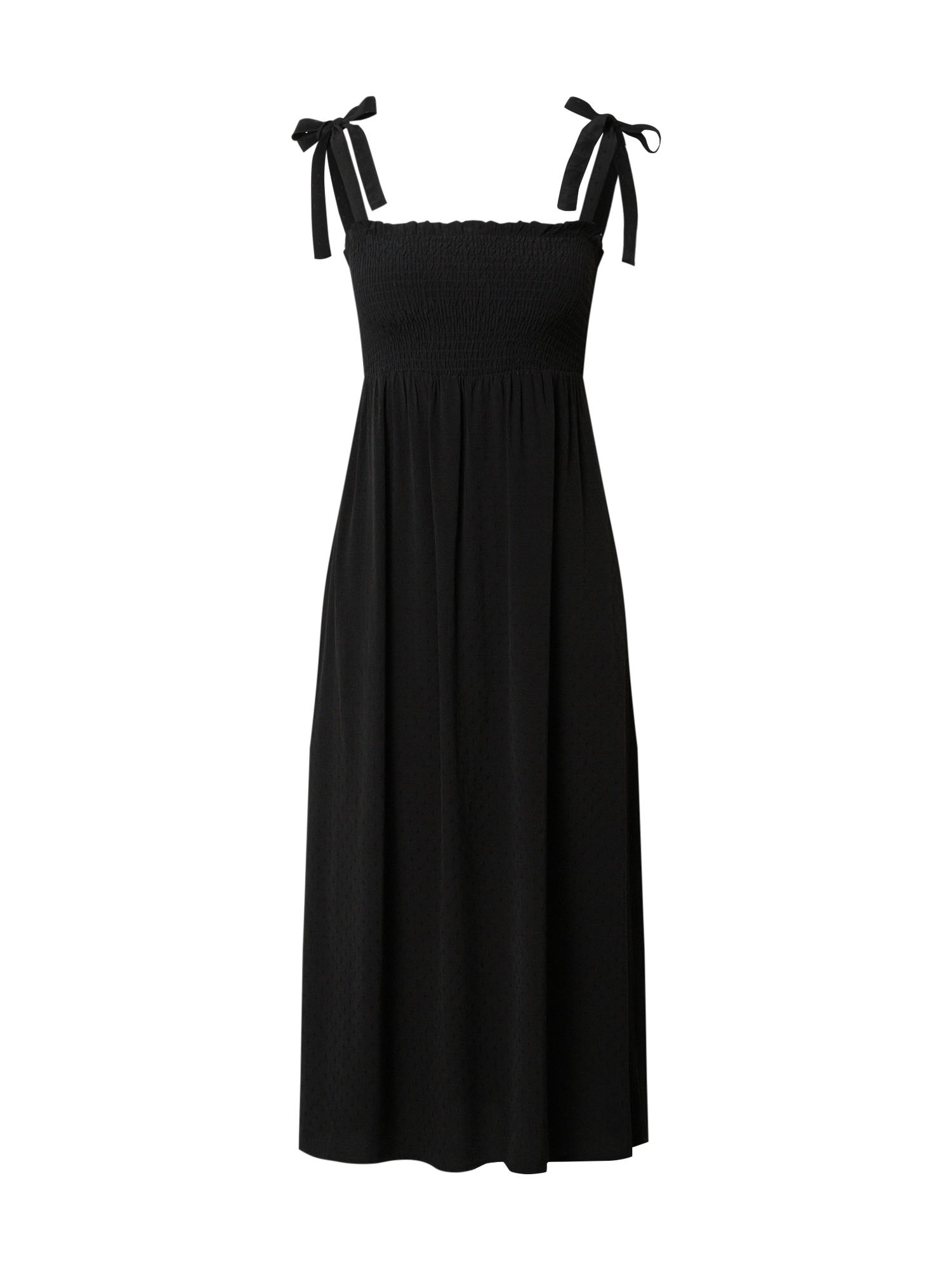 VERO MODA Šaty 'VMLAYLA STRAP CALF DRESS VMA'  čierna