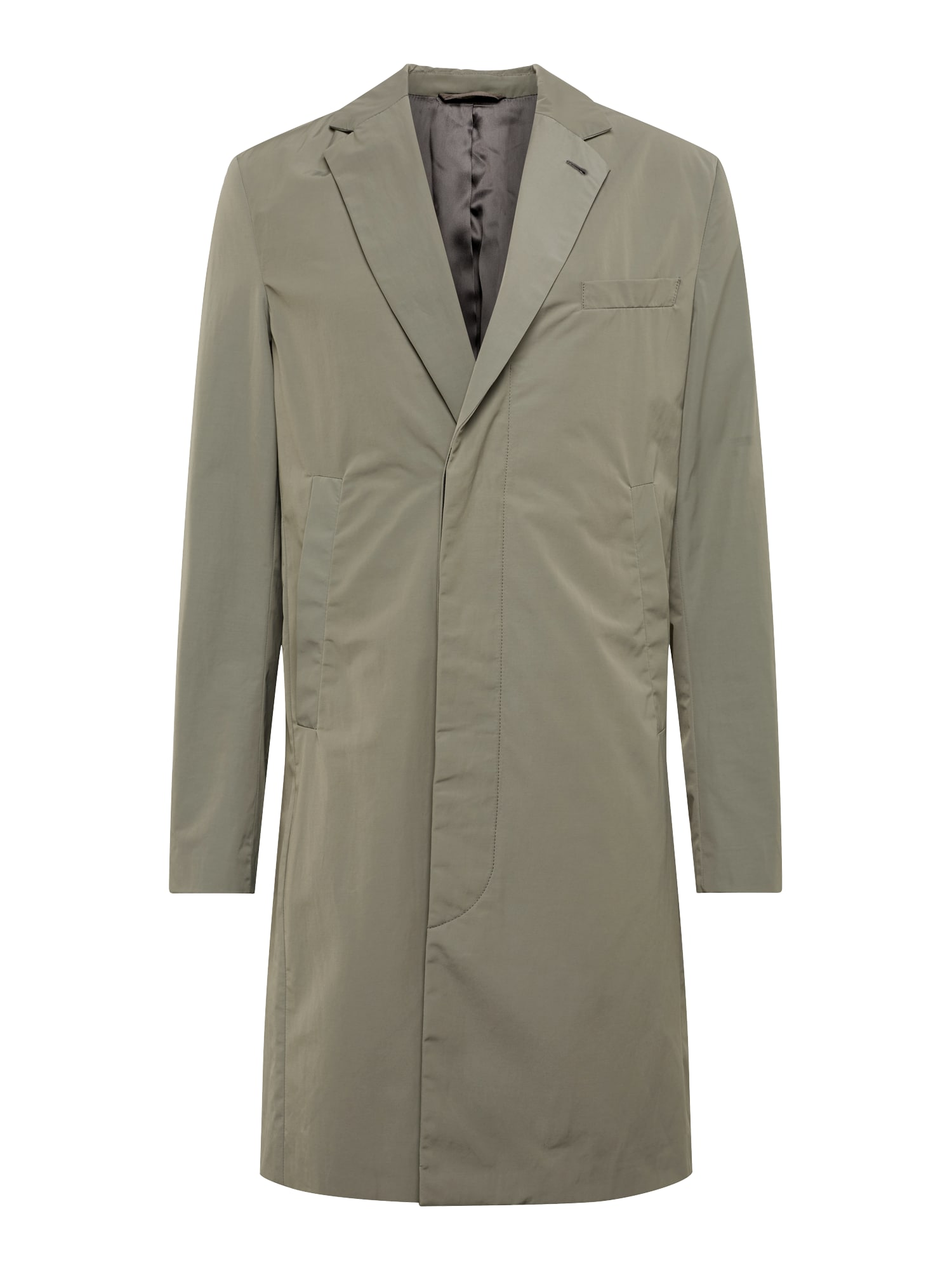 Filippa K Rudeninis-žieminis paltas 'M. Ross Spring Coat' alyvuogių spalva
