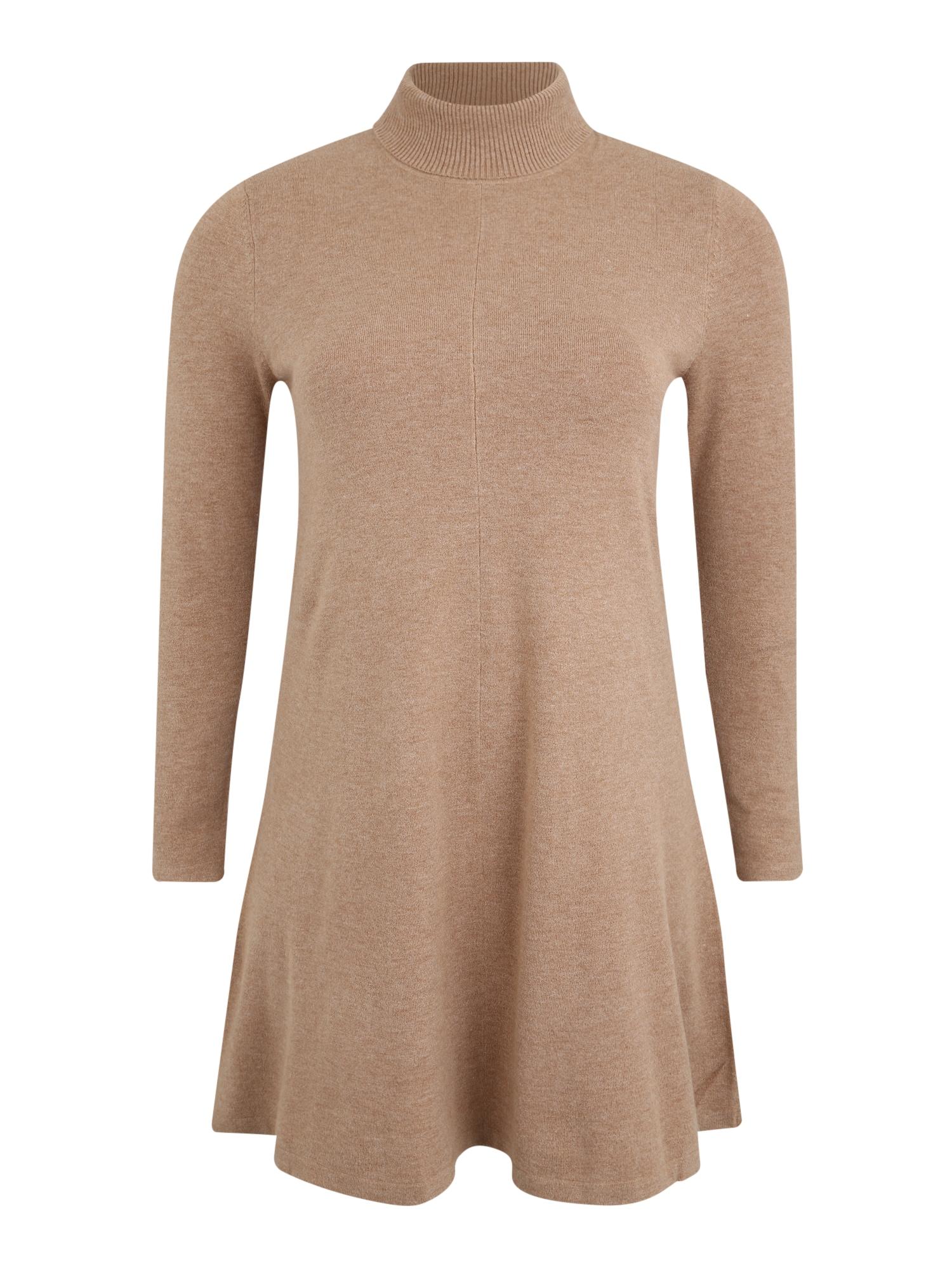 Vero Moda Curve Megzta suknelė 'VMHAPPY' šviesiai ruda