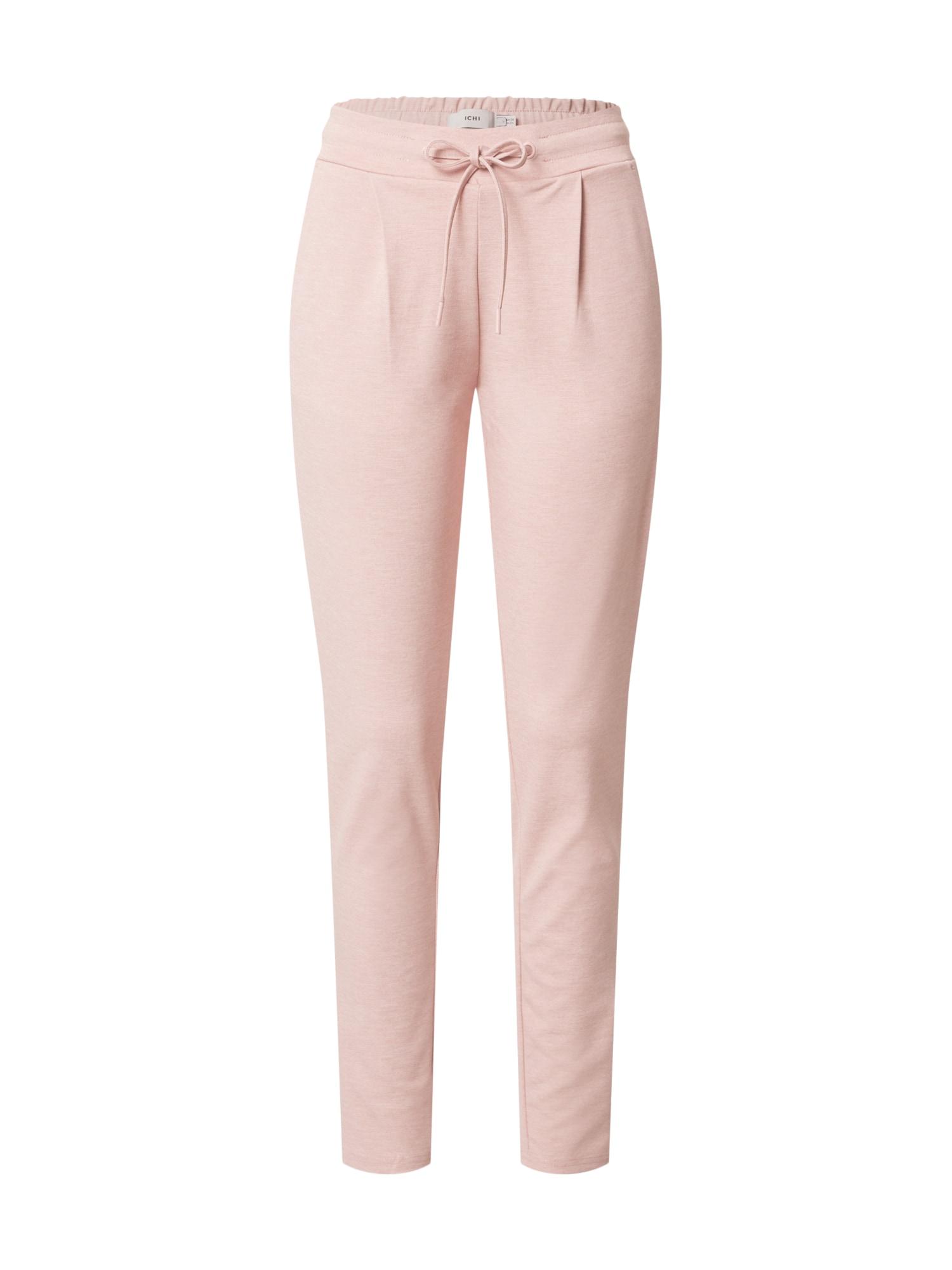 ICHI Plisované nohavice 'KATE'  ružová