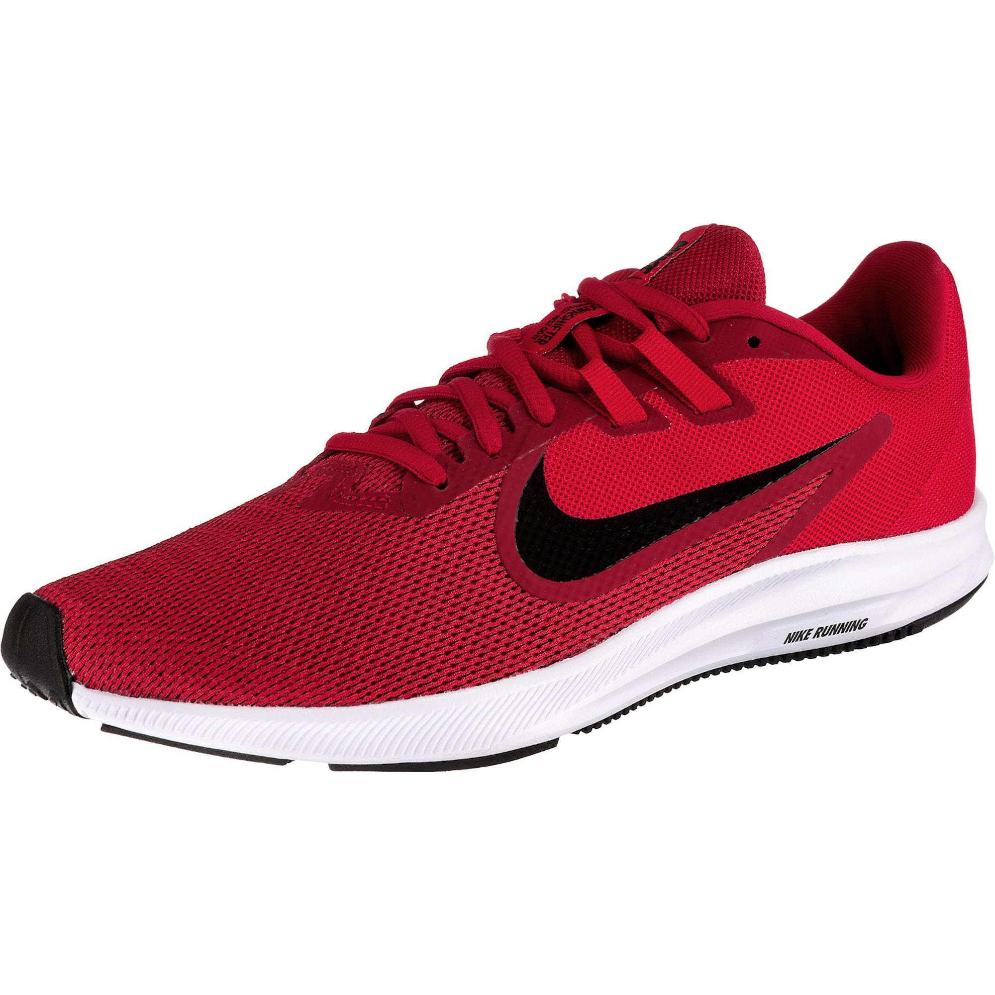 NIKE Bėgimo batai 'Downshifter 9' raudona / juoda
