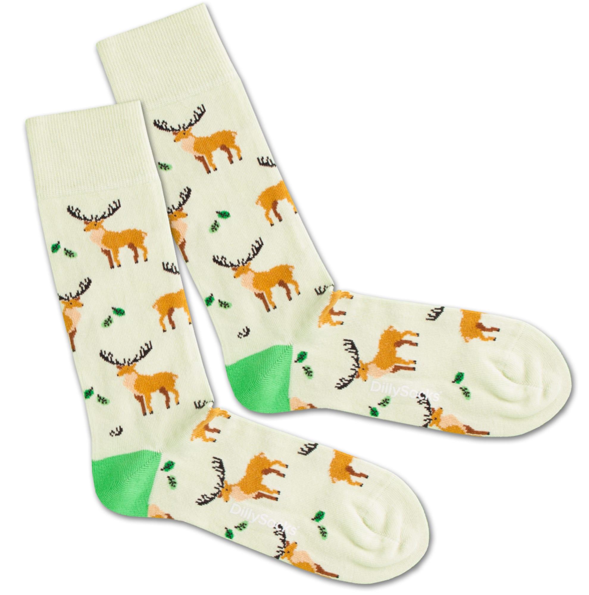 Ponožky Deer Pack hnědá mátová DillySocks