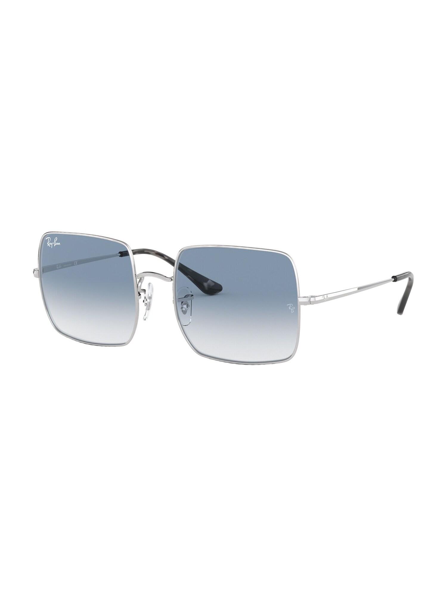 Ray-Ban Slnečné okuliare 'Square'  modré / strieborná