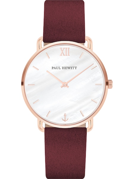 Uhren für Frauen - Paul Hewitt Uhr 'Miss Ocean Line' rosegold bordeaux  - Onlineshop ABOUT YOU