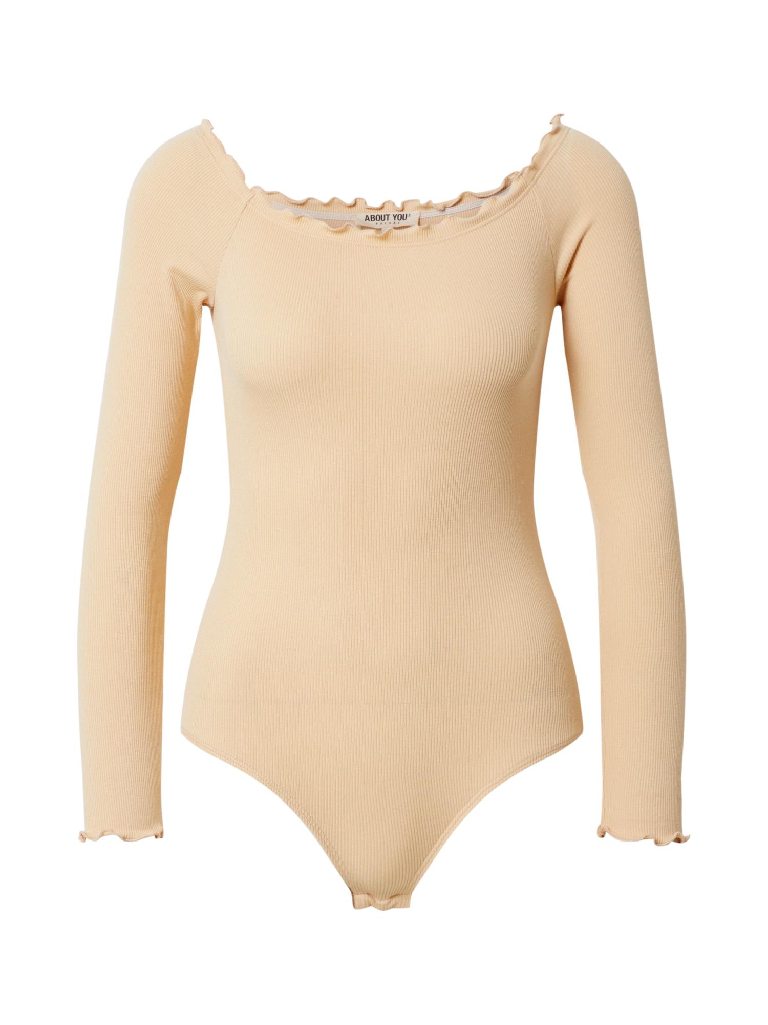 ABOUT YOU Marškinėliai 'Cami Body' geltona / smėlio