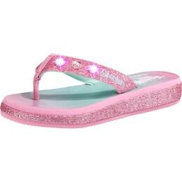 Skechers Kinder,Mädchen Zehentrenner Twinkle Toes Blinkies pink | 00190872029862