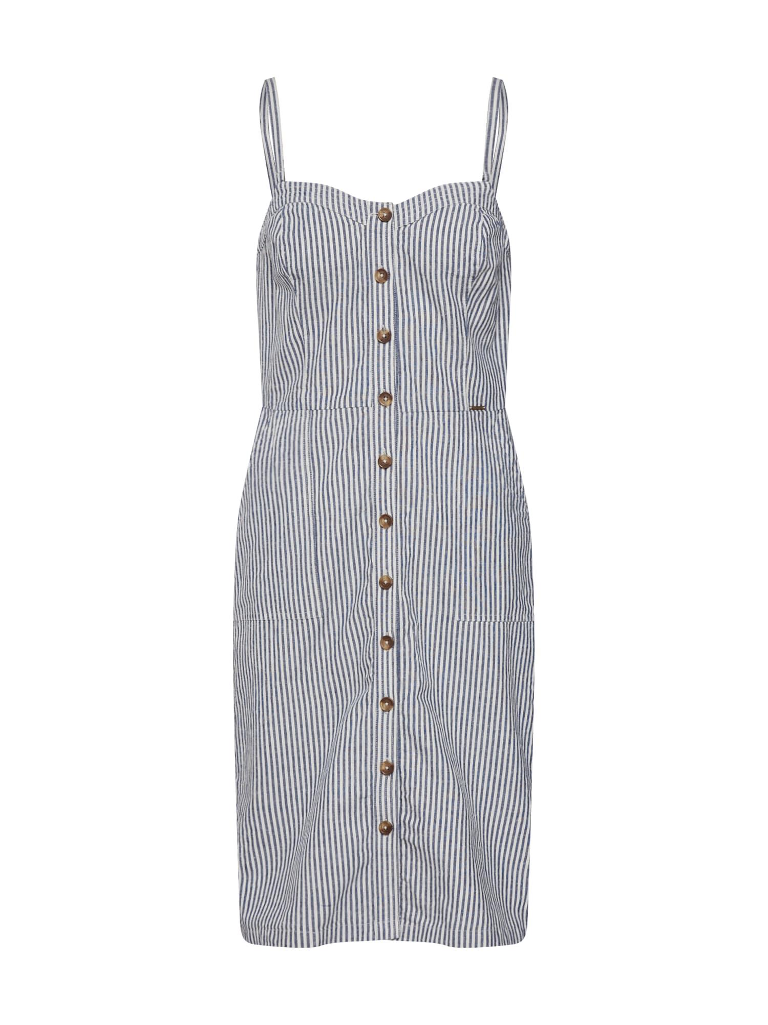 Superdry Vasarinė suknelė 'Mila' mėlyna / natūrali balta
