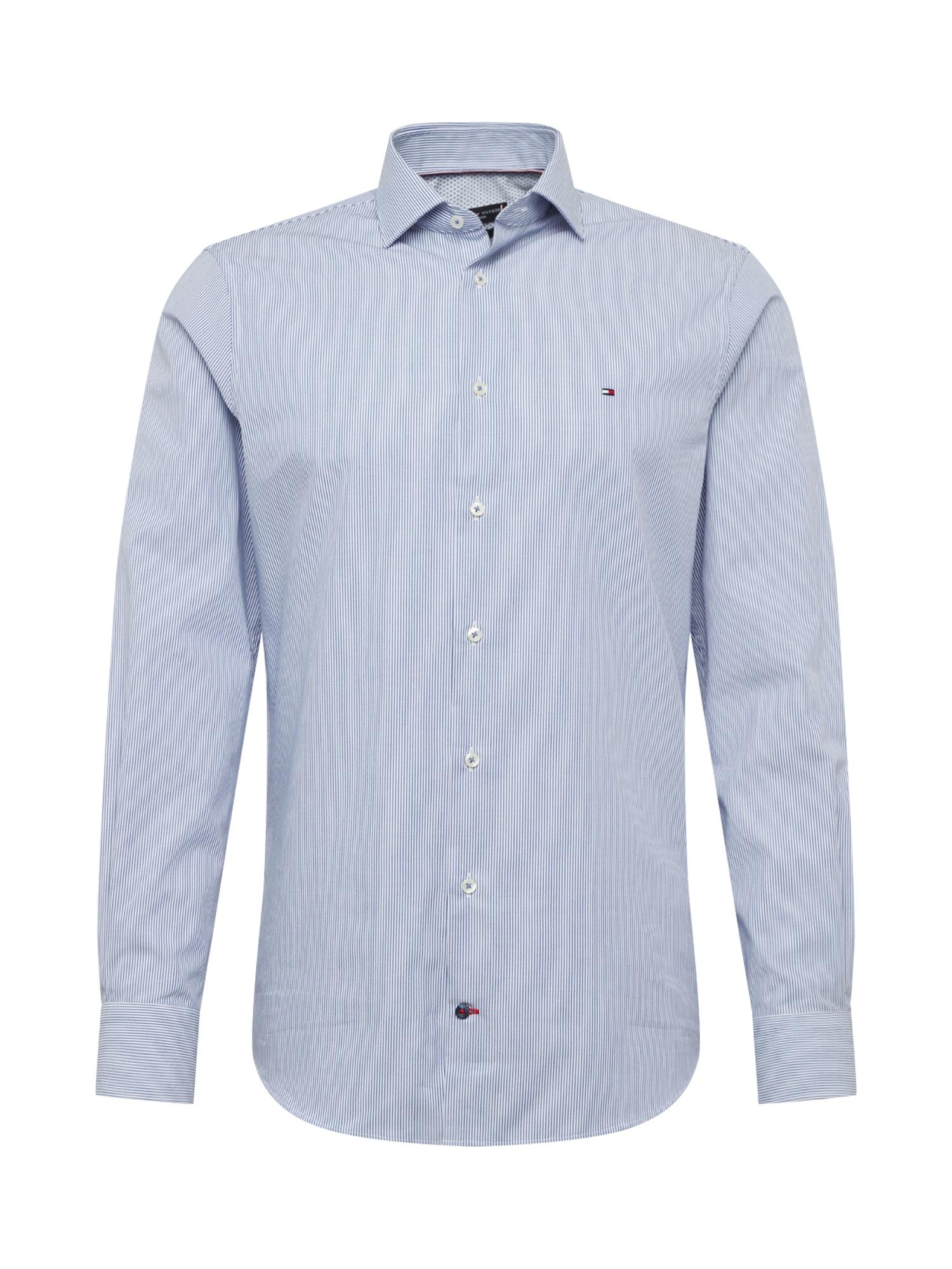 Tommy Hilfiger Tailored Košeľa  biela / námornícka modrá