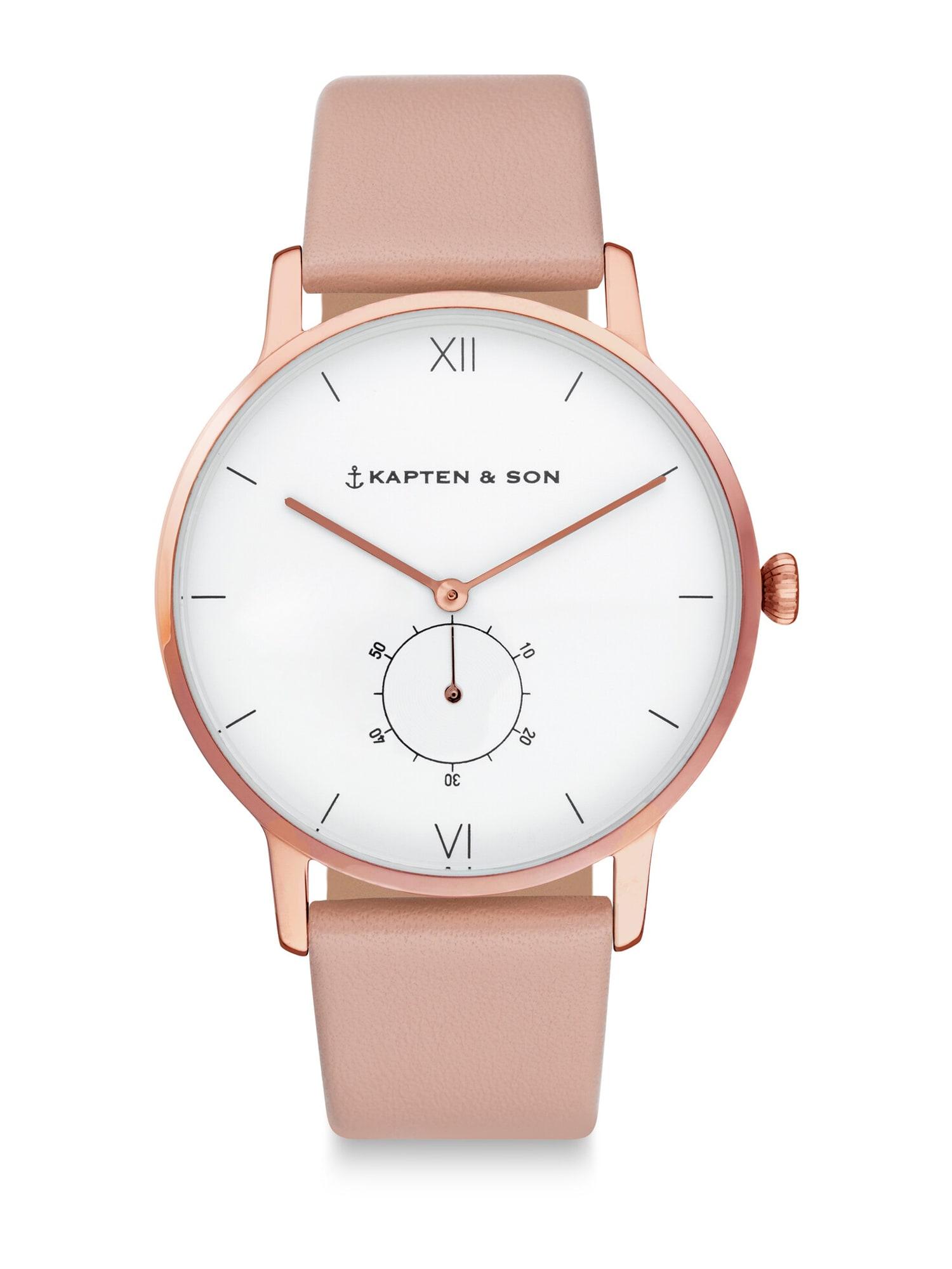 Kapten & Son Analógové hodinky 'Heritage'  rosé