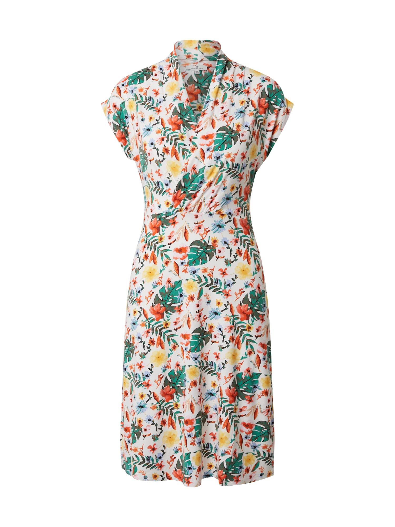 TOM TAILOR Letní šaty  mix barev / bílá