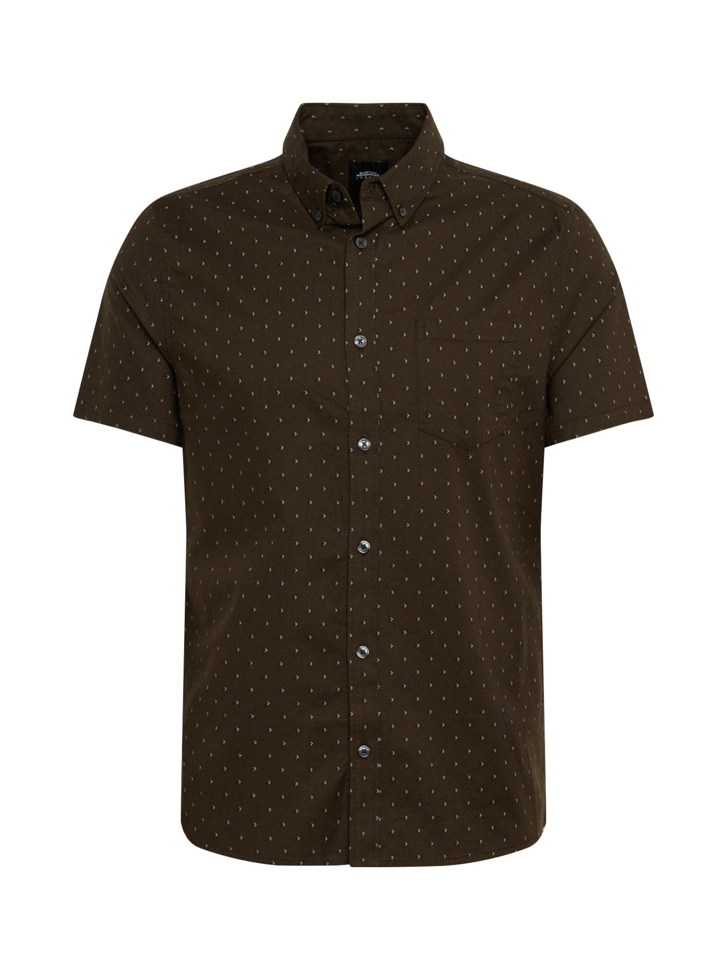 BURTON MENSWEAR LONDON Dalykiniai marškiniai 'SS KHK ARROW OXFORD' ruda / žalia