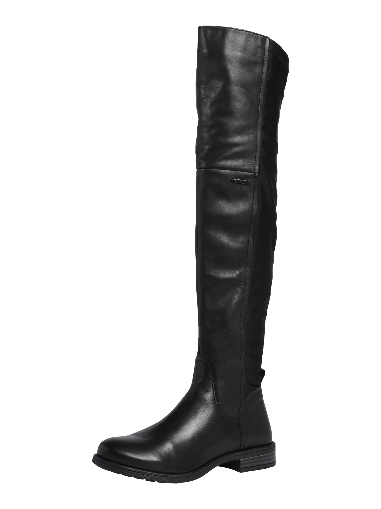 bugatti Ilgaauliai batai virš kelių 'Ronja' juoda