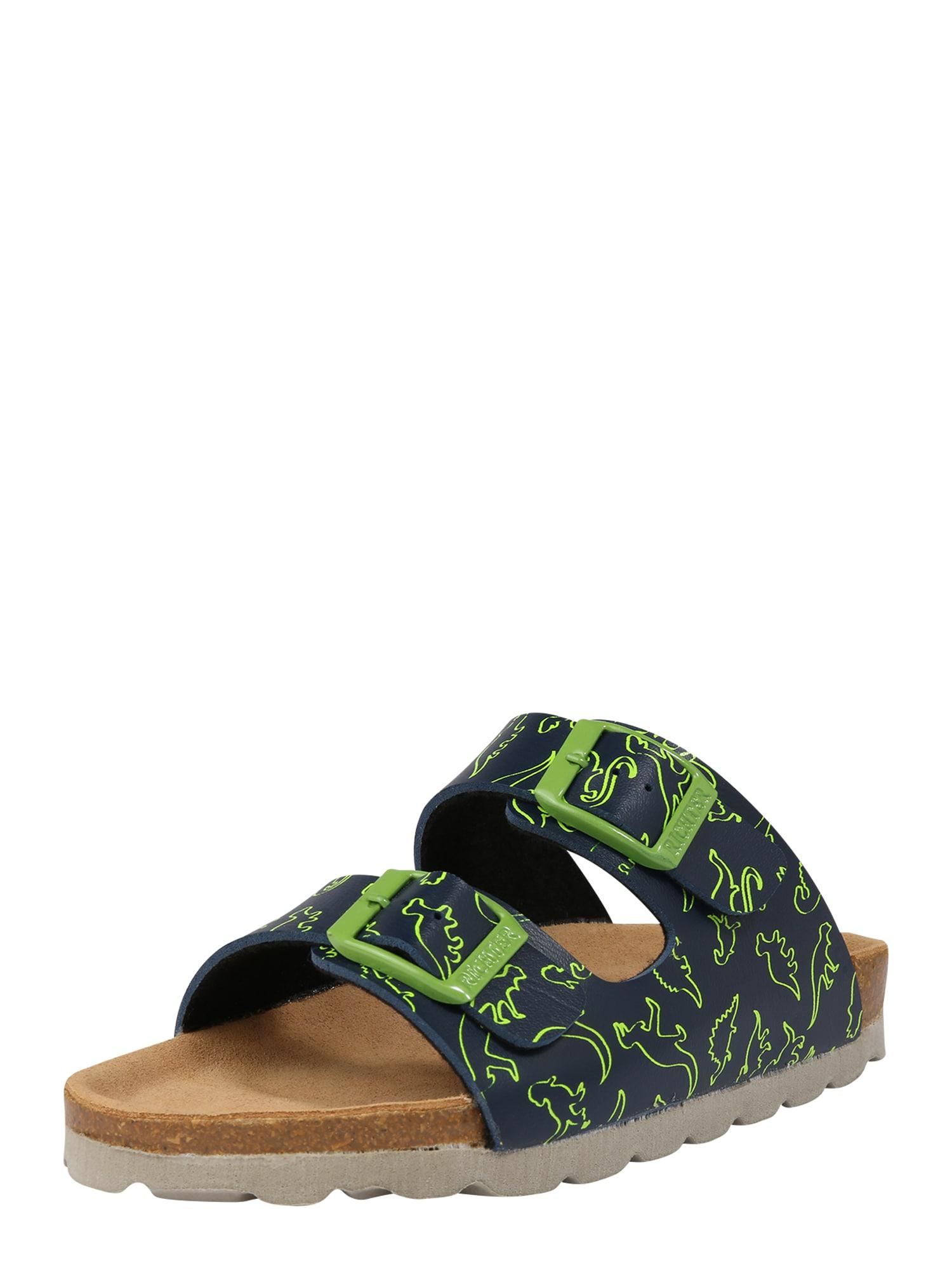 Otevřená obuv 5501 542 modrá zelená RICHTER