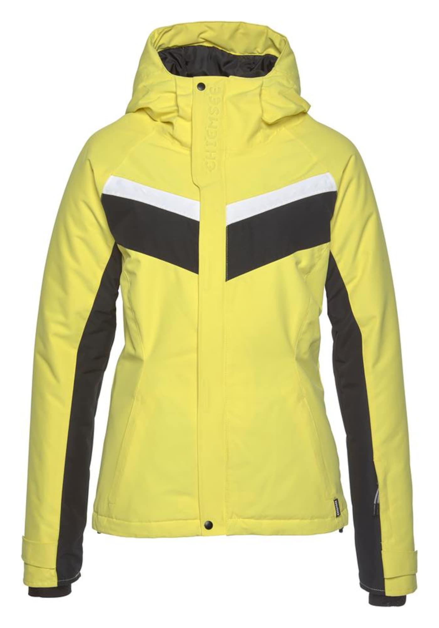 CHIEMSEE Laisvalaikio striukė geltona / juoda / balta
