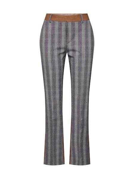Hosen für Frauen - POSTYR Damen Hosen 'Possophie Check Mix Pants' braun grau  - Onlineshop ABOUT YOU