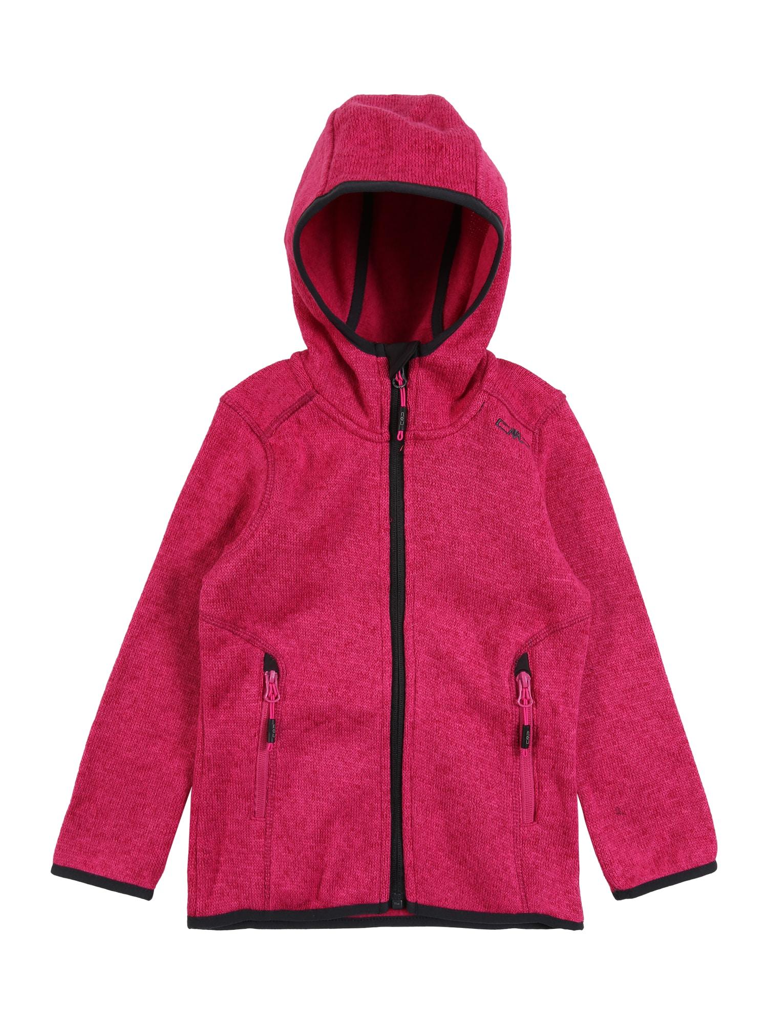 CMP Sportinis džemperis antracito / rožinė