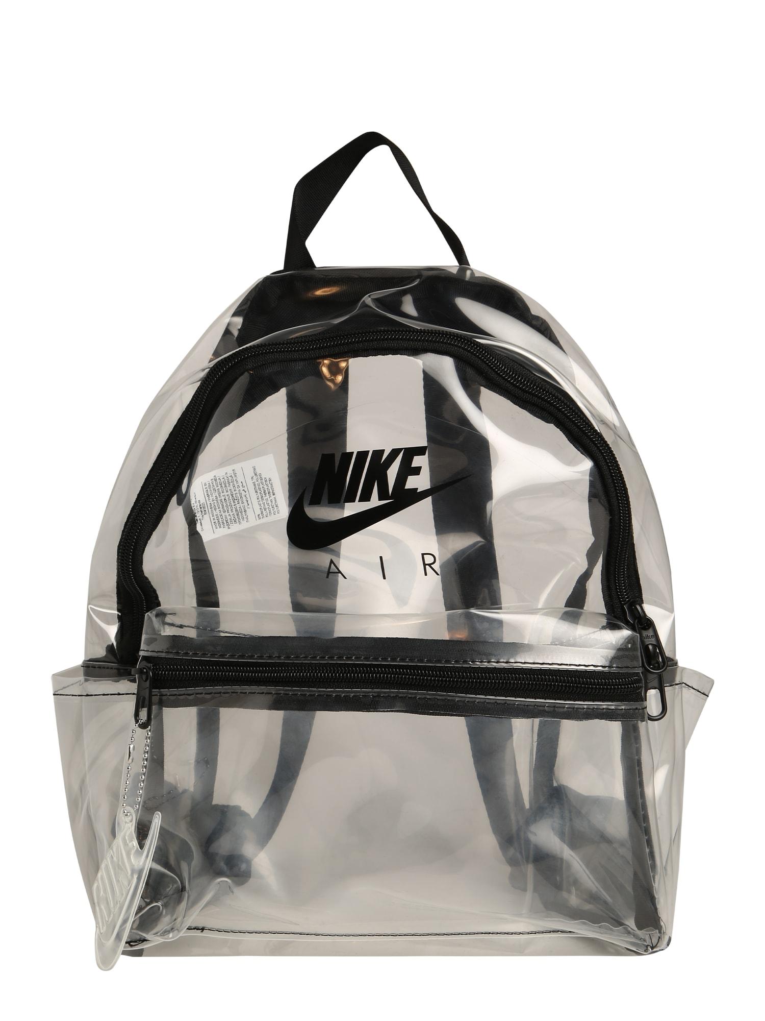 Nike Sportswear Kuprinė skaidri spalva / juoda