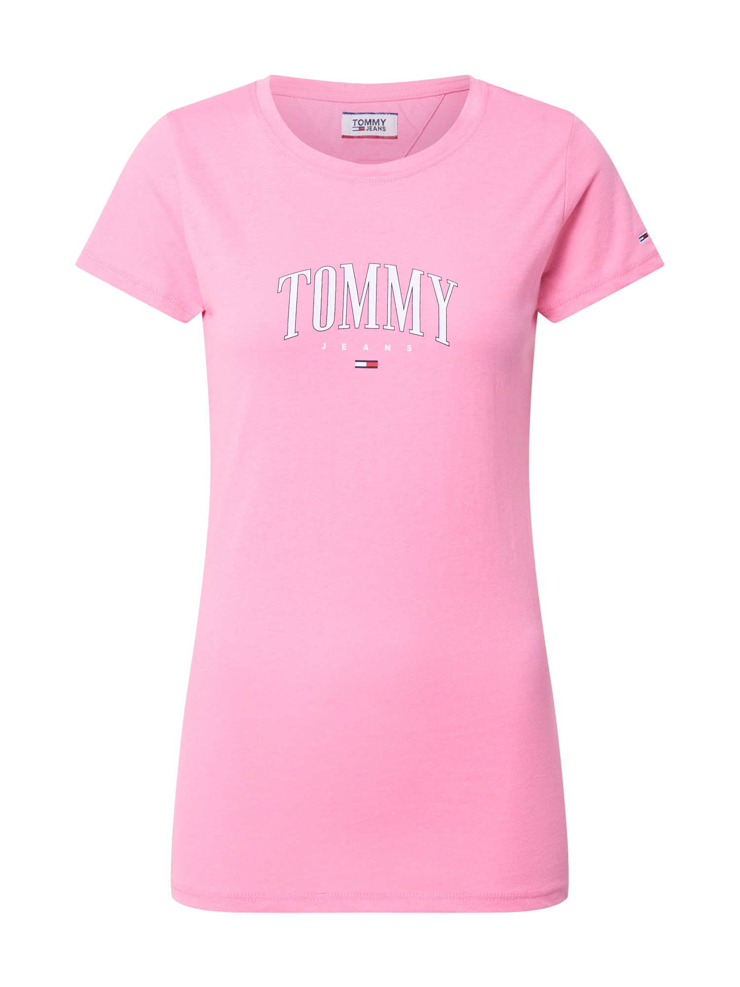 Tommy Jeans Tričko 'TJW TOMMY SCRIPT TEE'  růžová