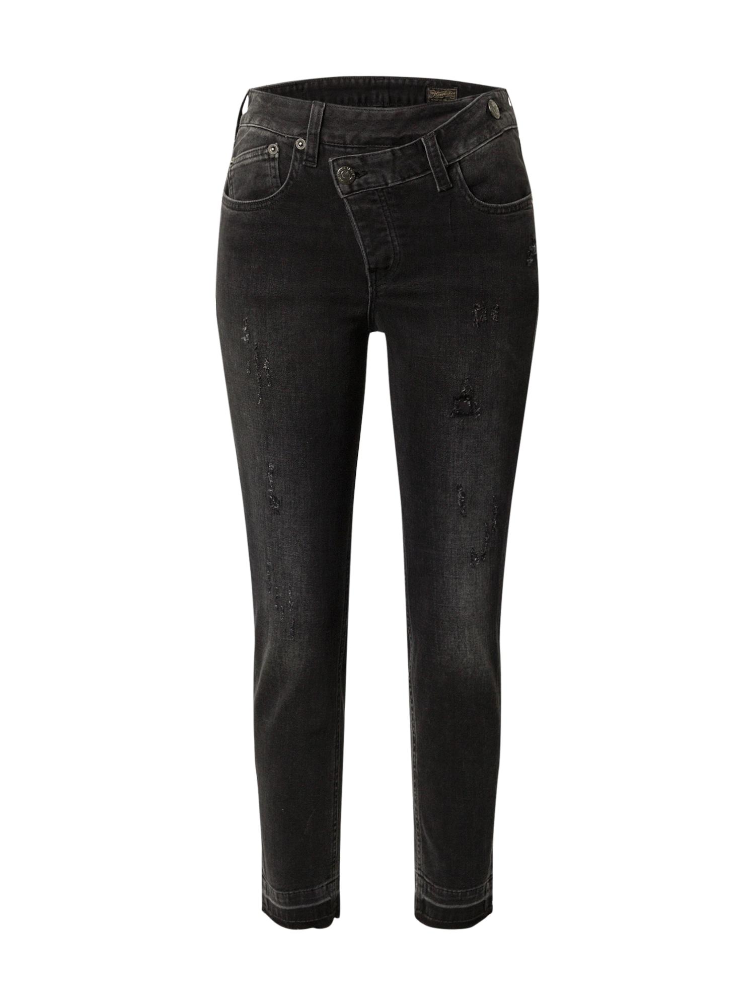 Herrlicher Džinsai juodo džinso spalva