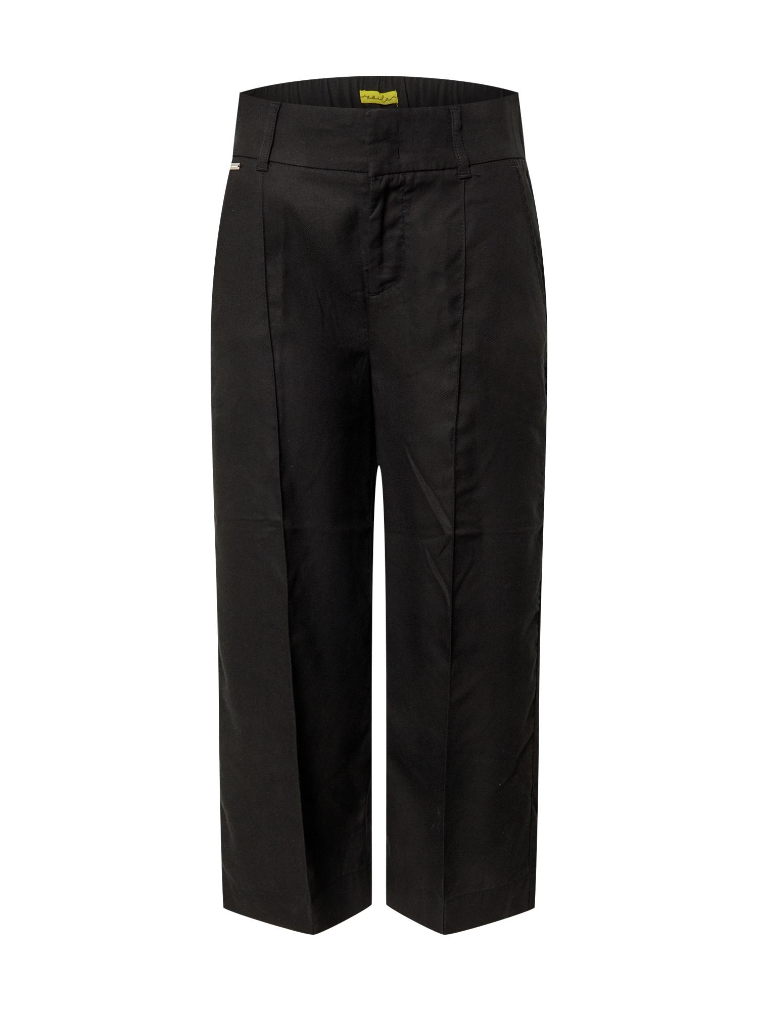 STREET ONE Nohavice 'LTD QR Emee Wide Leg'  čierna