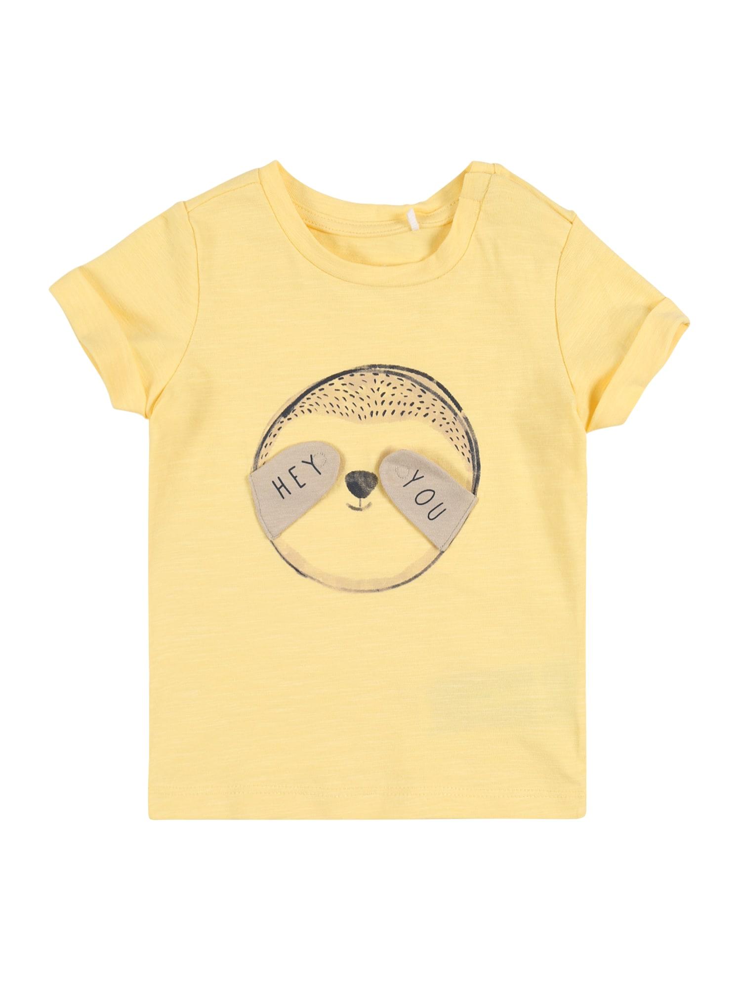 NAME IT Marškinėliai 'NBMHETUSIM SS TOP' geltona
