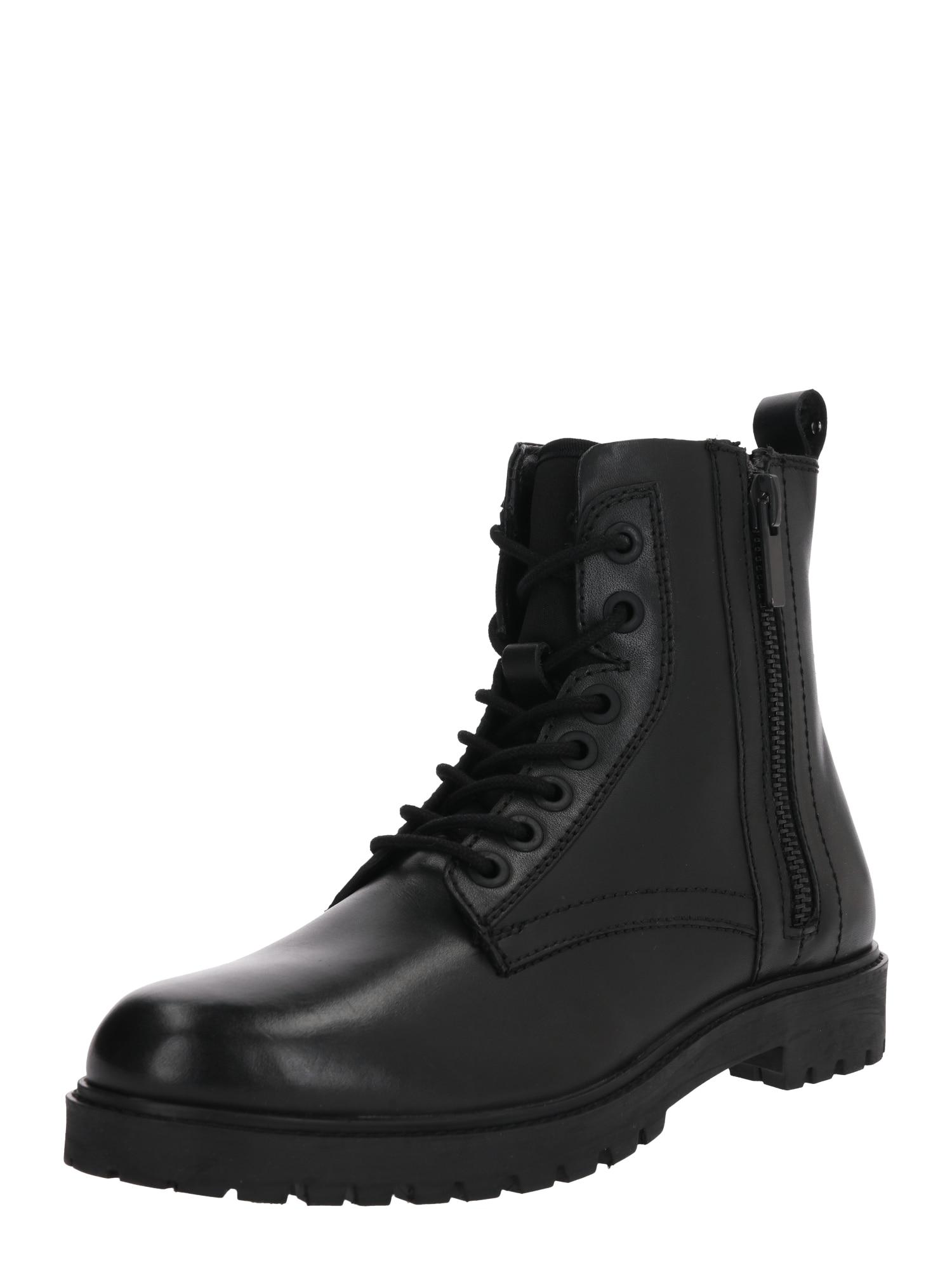 ANTONY MORATO Cizme cu șireturi 'Army Lace Up'  negru