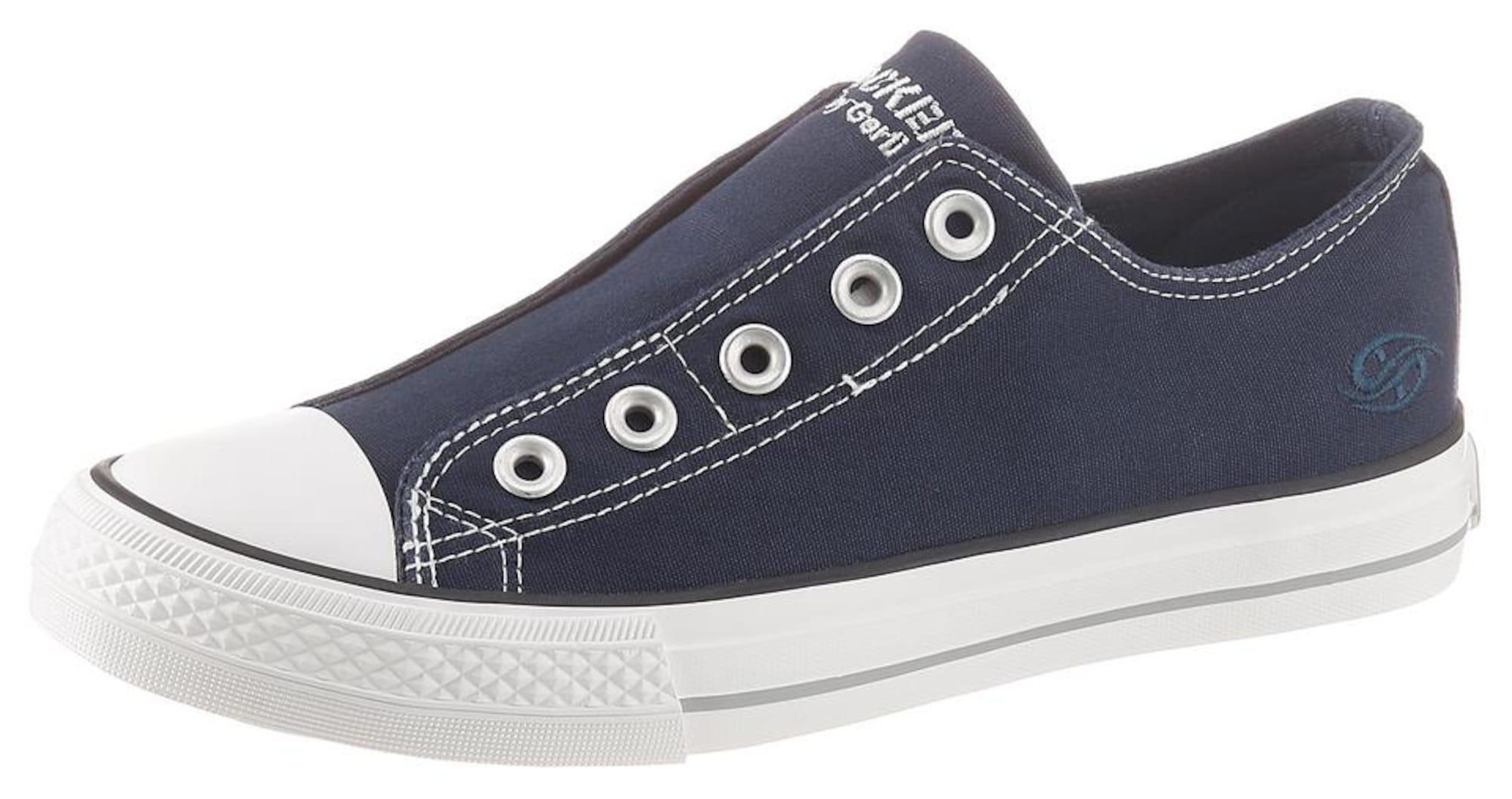 Dockers by Gerli Slip-on obuv  biela / námornícka modrá