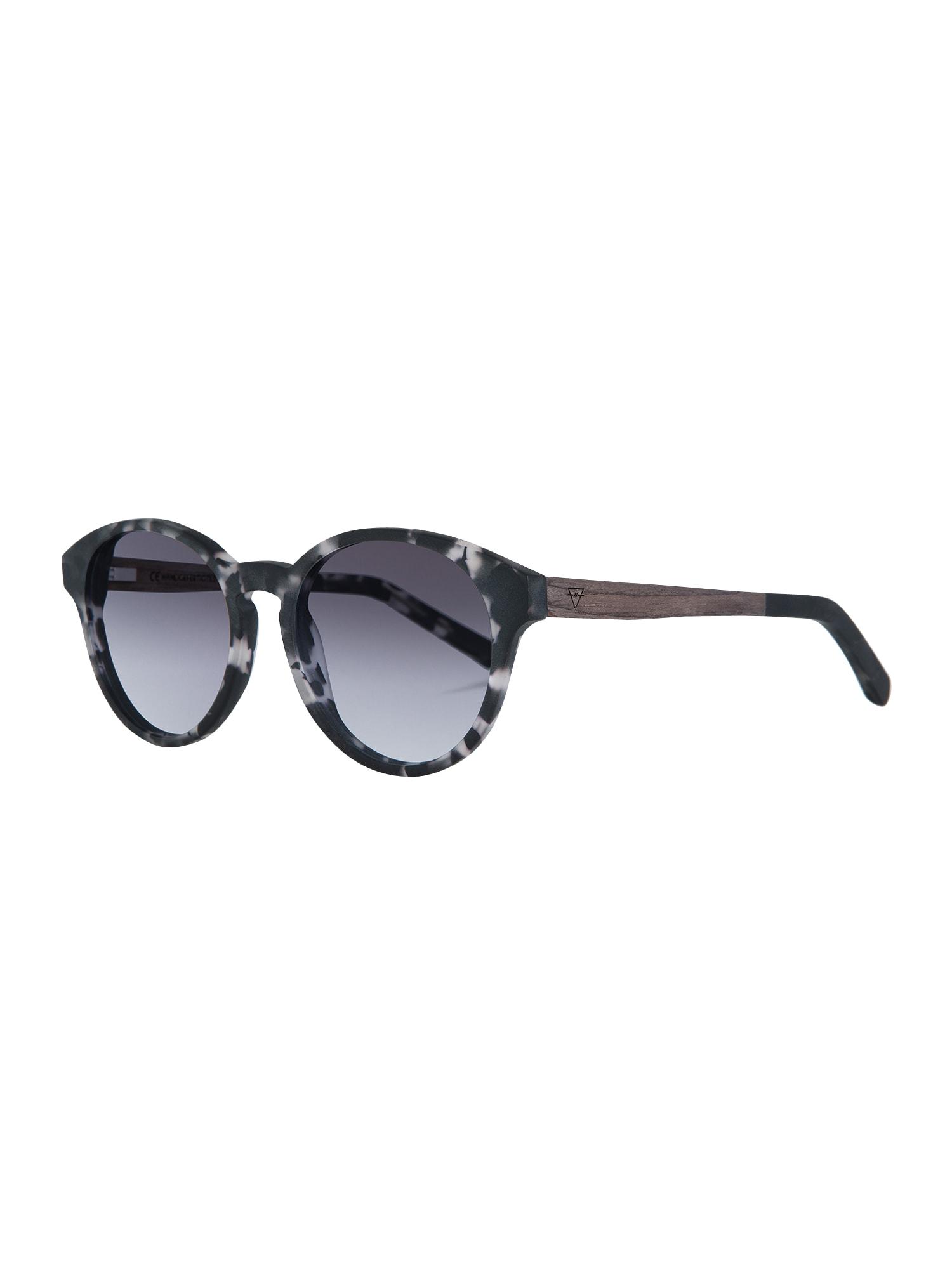 Sluneční brýle Leopold černá bílá Kerbholz