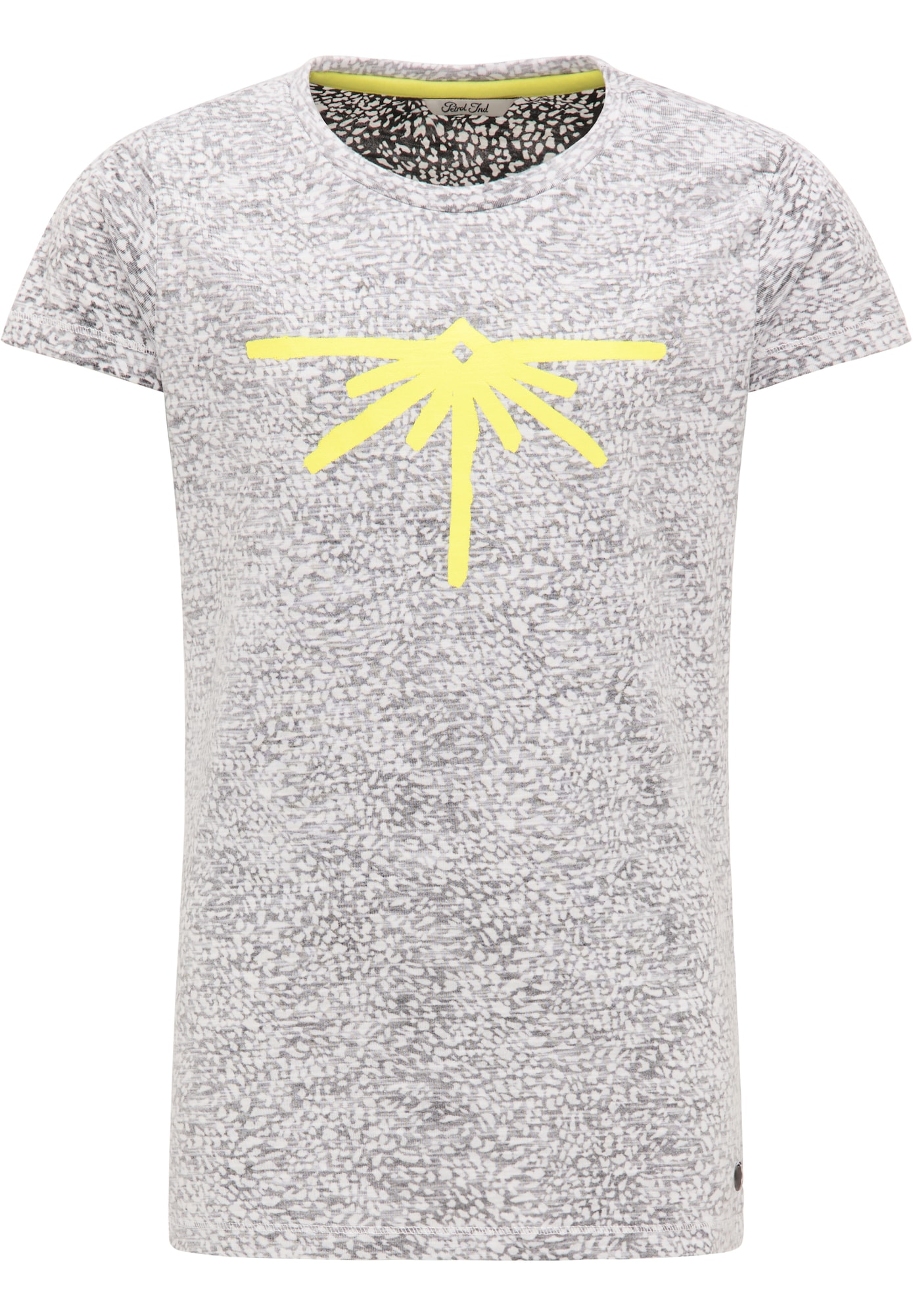 Petrol Industries Marškinėliai juoda / balta / geltona