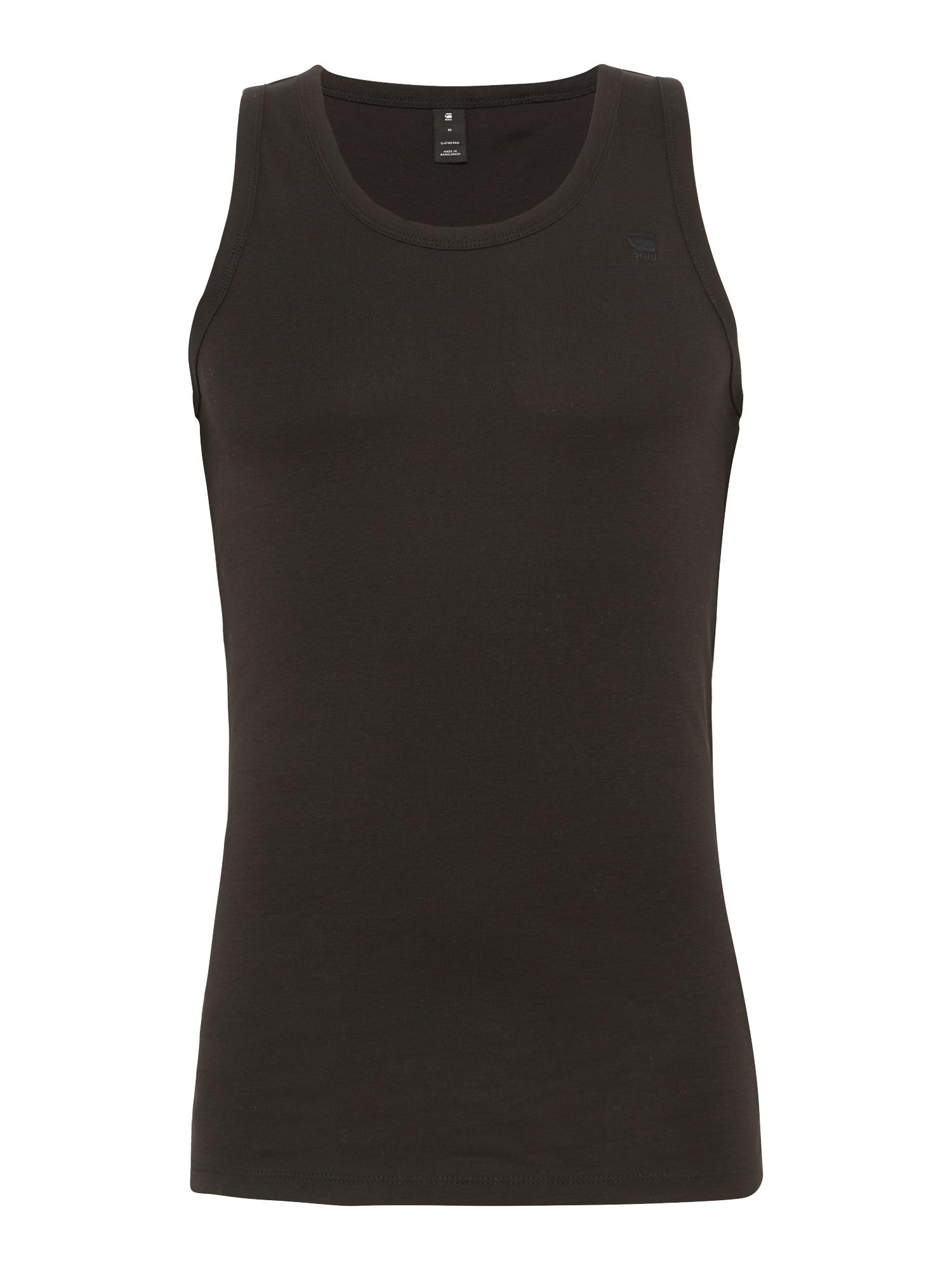 G-Star RAW Apatiniai marškinėliai juoda