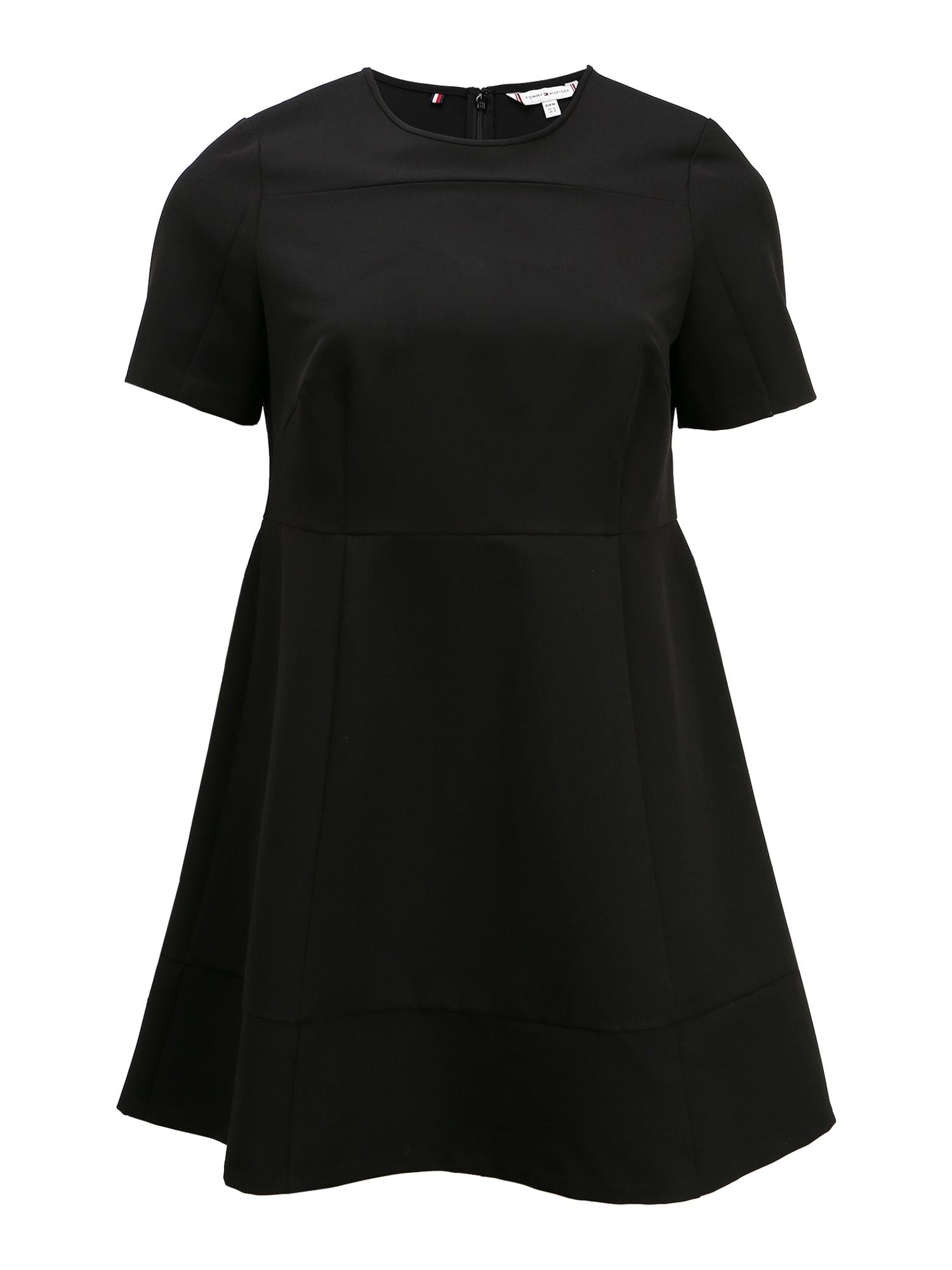 Tommy Hilfiger Curve Šaty 'ANGELA PANEL DRESS SS CURVE'  čierna