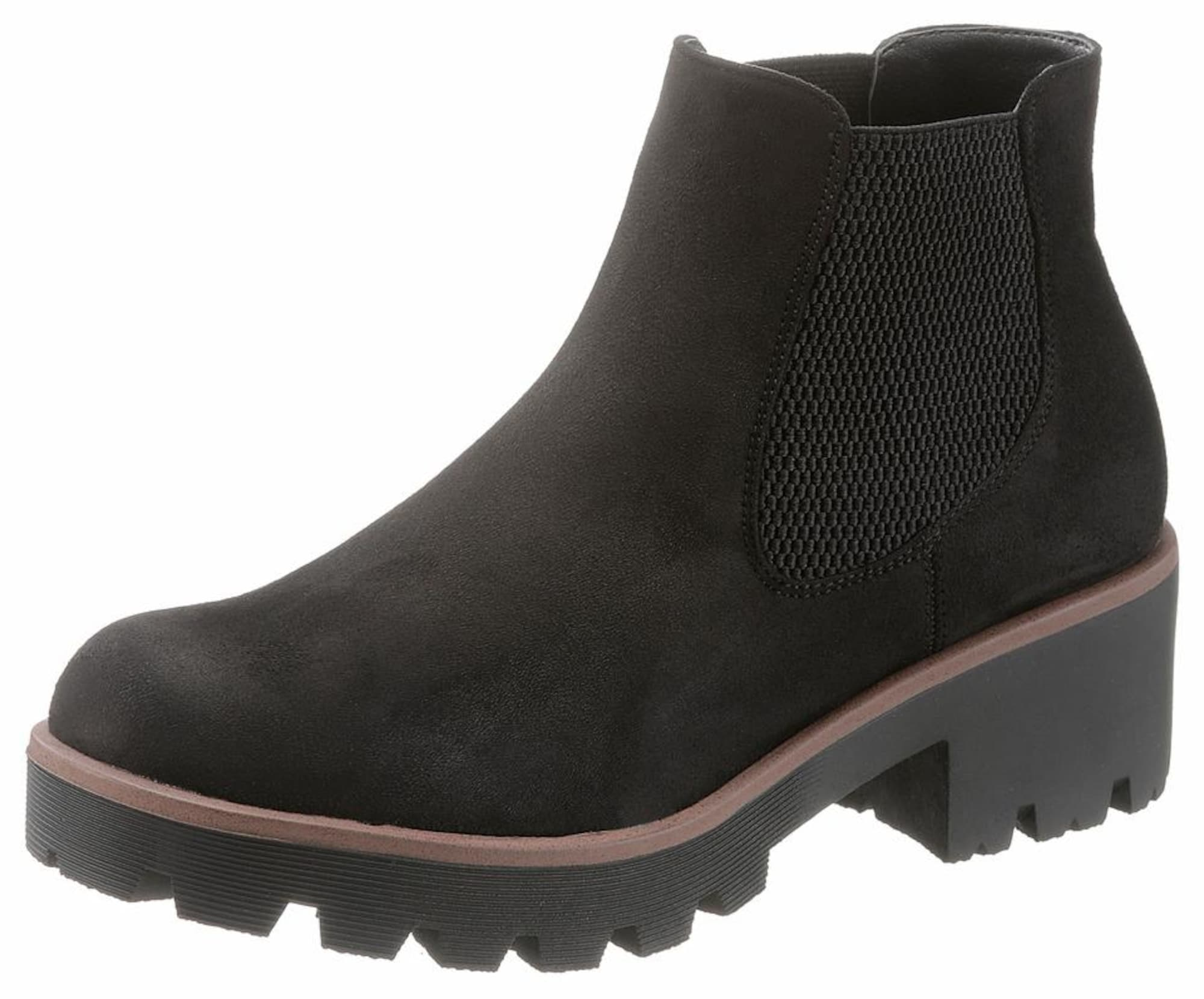RIEKER Chelsea batai gelsvai pilka spalva / juoda