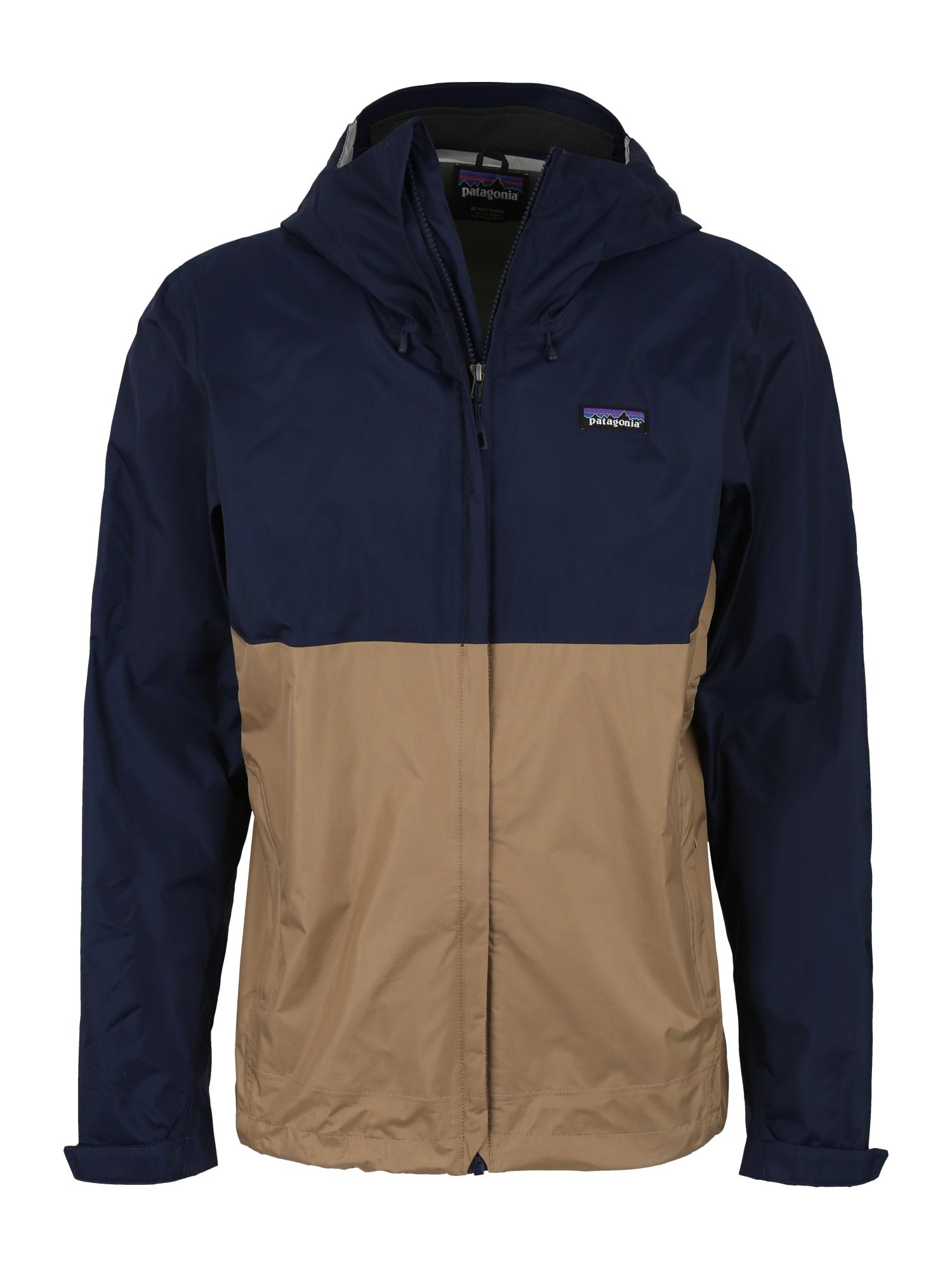 Outdoorová bunda Torrentshell béžová námořnická modř PATAGONIA