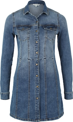 Review Jeanskleid mit Used-Waschung
