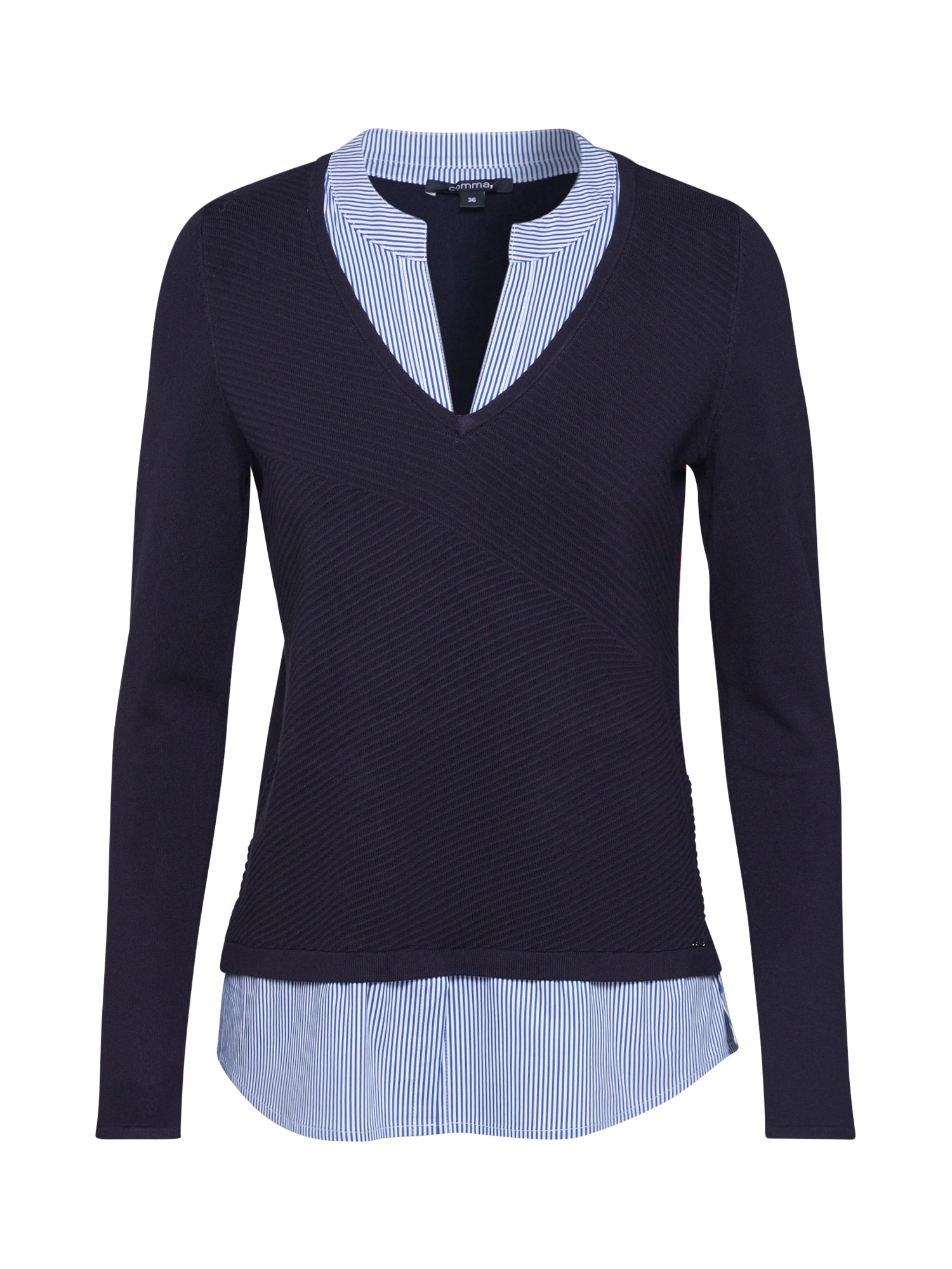 COMMA Megztinis tamsiai mėlyna / balta