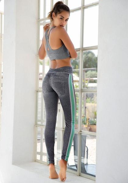 Hosen für Frauen - Leggings › Buffalo › grey denim  - Onlineshop ABOUT YOU