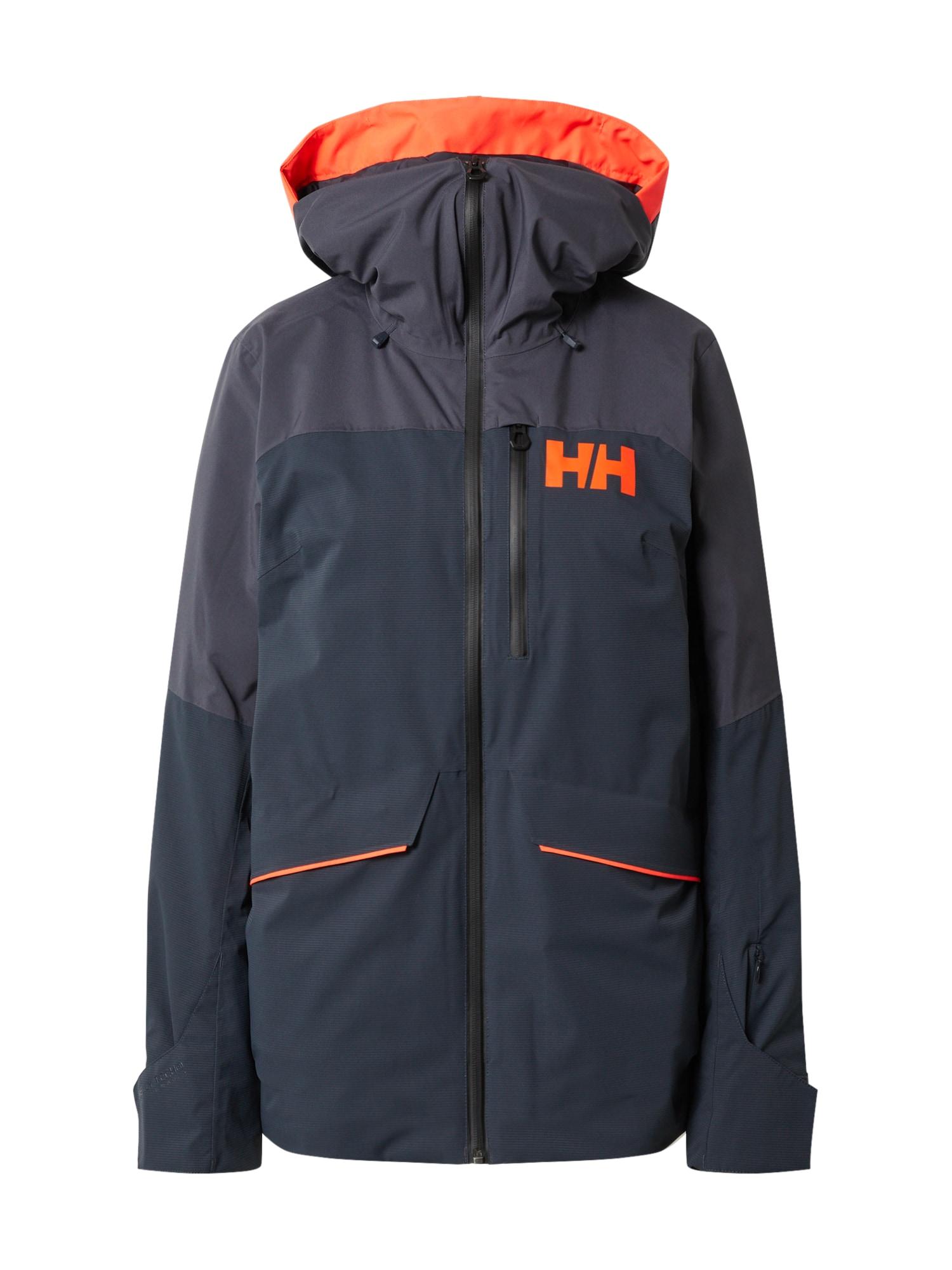 HELLY HANSEN Outdoorová bunda 'POWCHASER LIFALOFT'  oranžová / enciánová modrá / tmavě fialová
