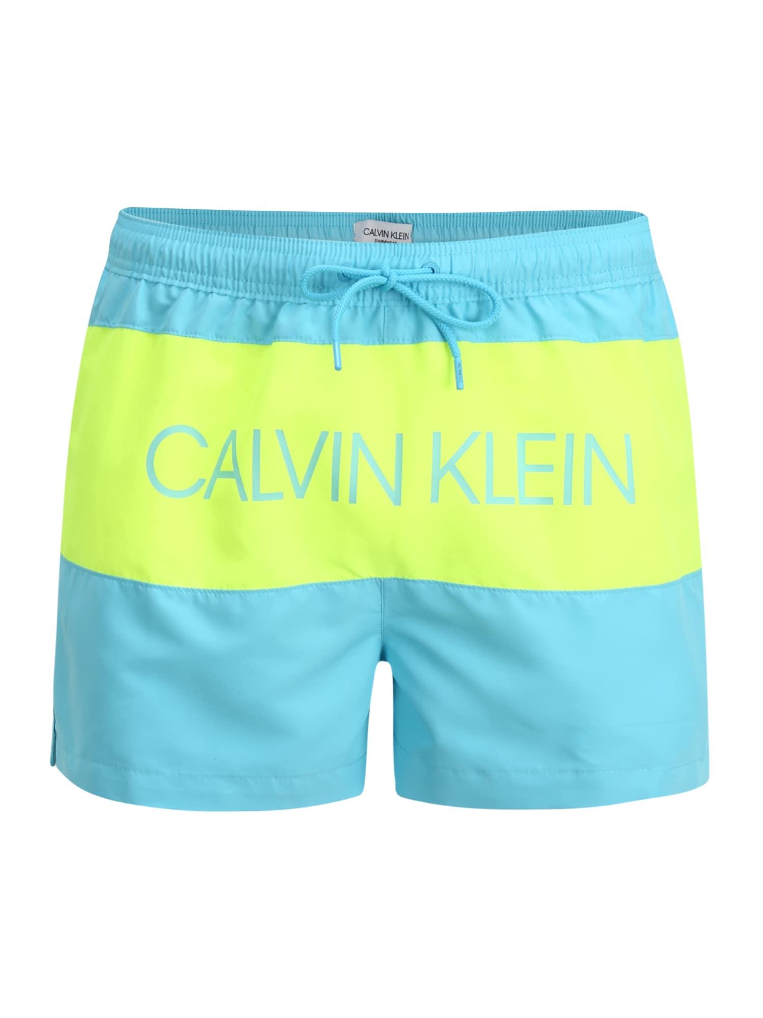 Calvin Klein Swimwear Maudymosi trumpikės 'SHORT DRAWSTRING' mėlyna