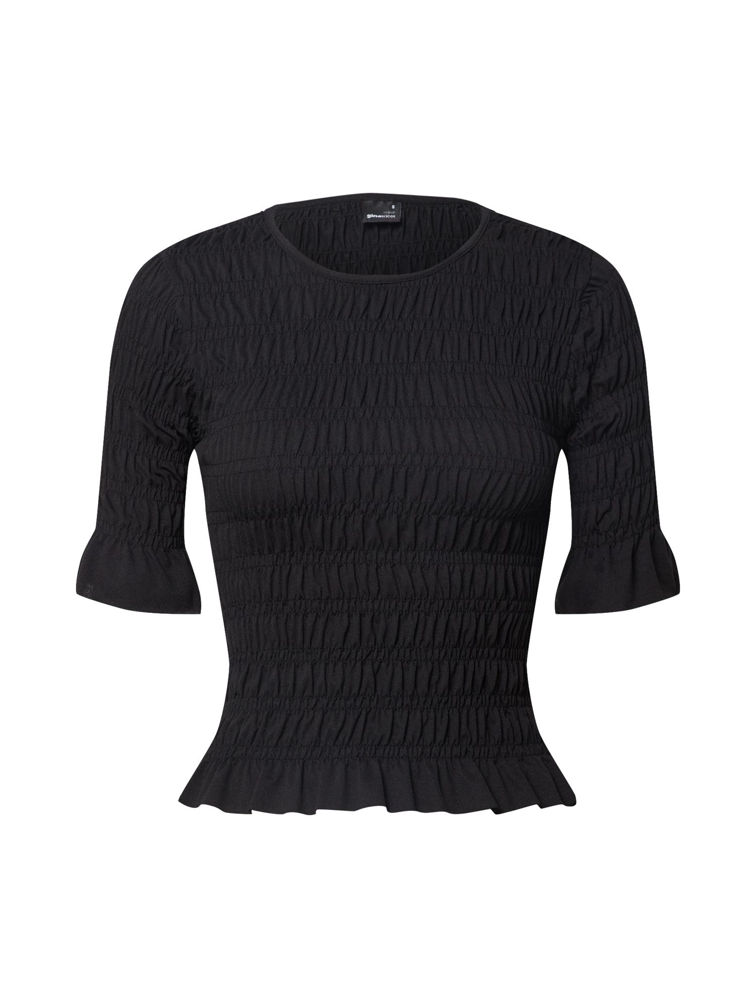 Gina Tricot Marškinėliai 'Sandra' juoda