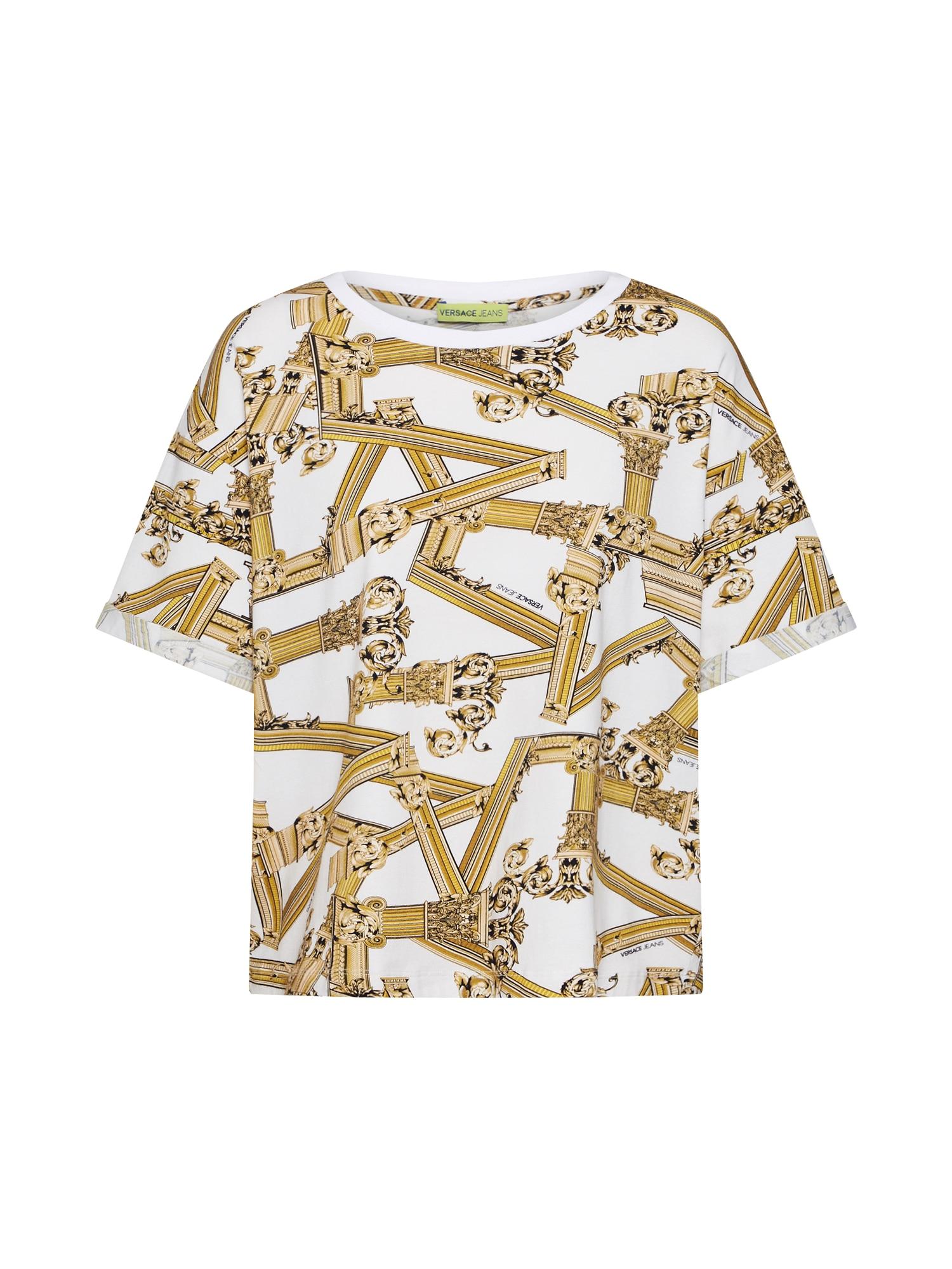Tričko TDM606 zlatá bílá Versace Jeans