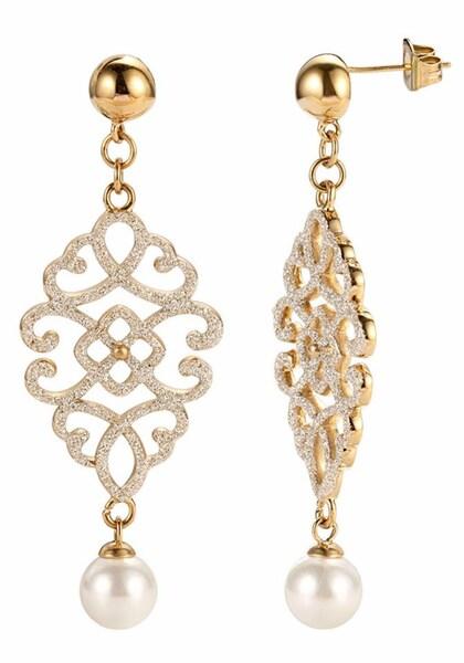 Ohrringe für Frauen - FIRETTI Paar Ohrstecker gold weiß  - Onlineshop ABOUT YOU