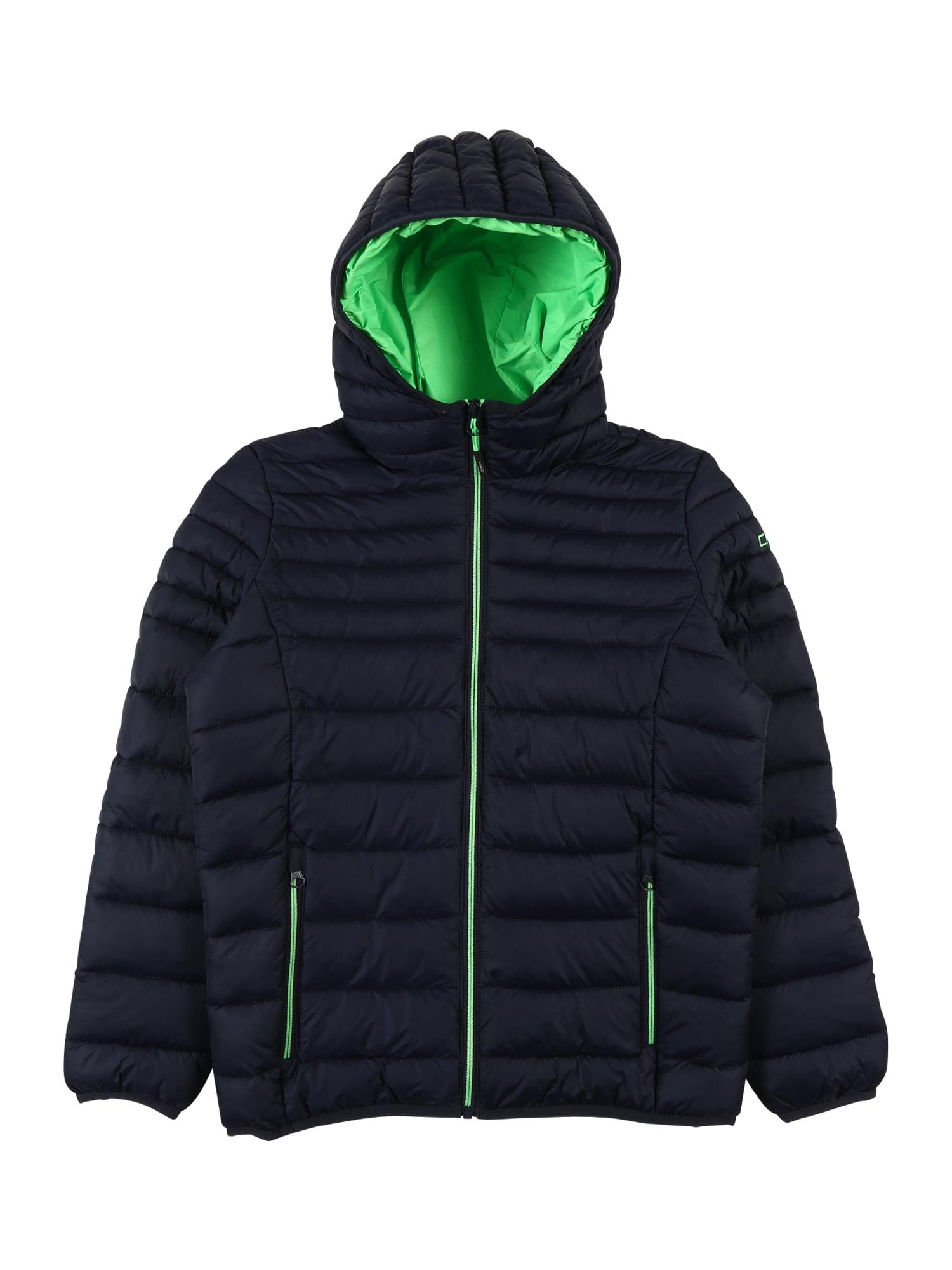 CMP Sportovní bunda  noční modrá / svítivě zelená