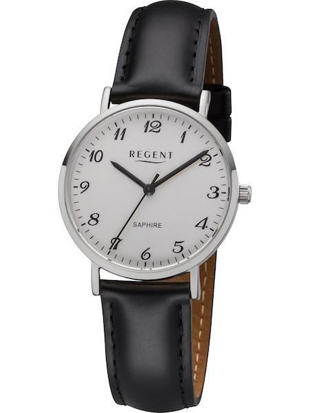 Uhren für Frauen - REGENT Uhr '12111199' schwarz silber weiß  - Onlineshop ABOUT YOU