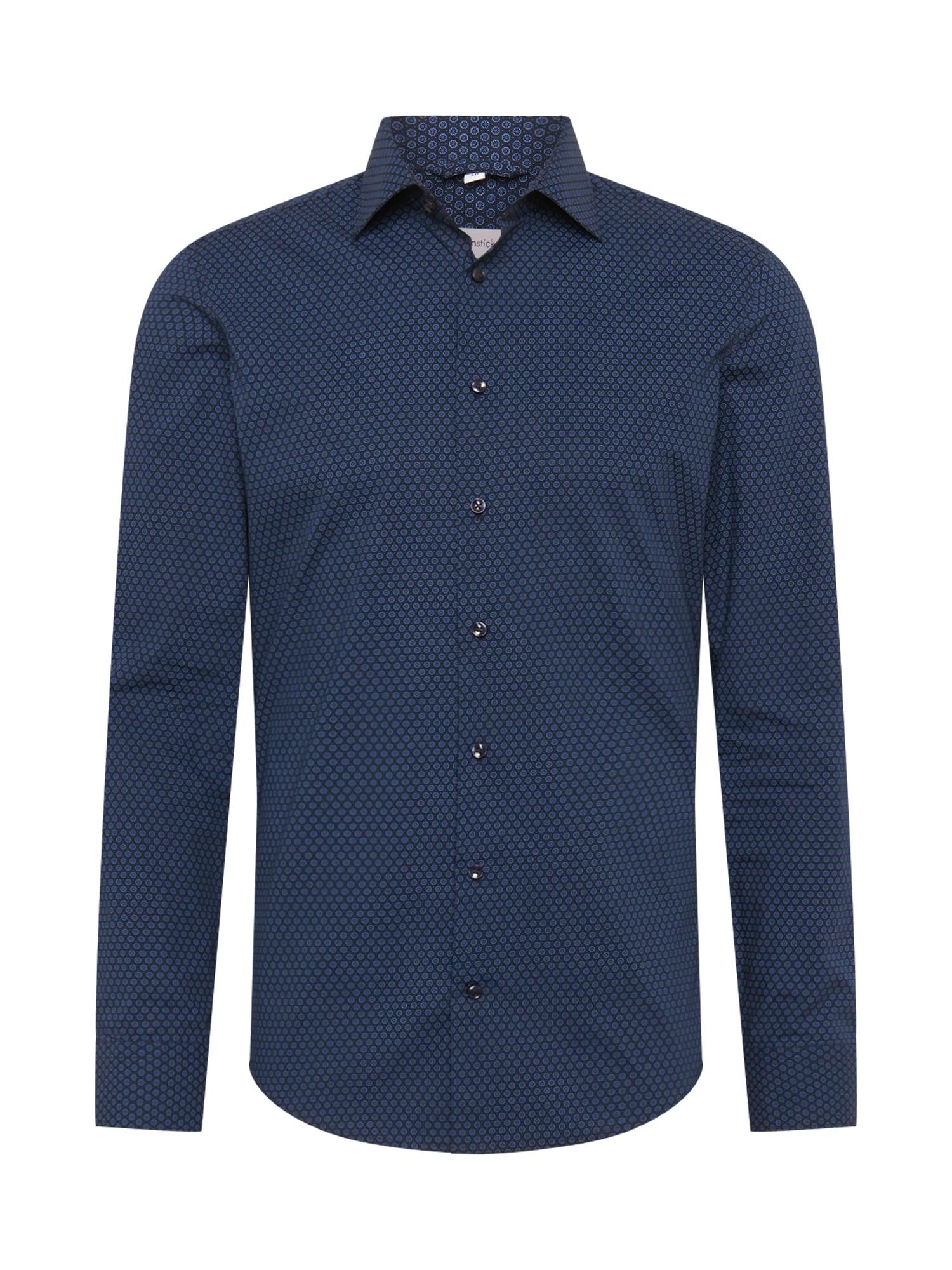 SEIDENSTICKER Dalykinio stiliaus marškiniai tamsiai mėlyna