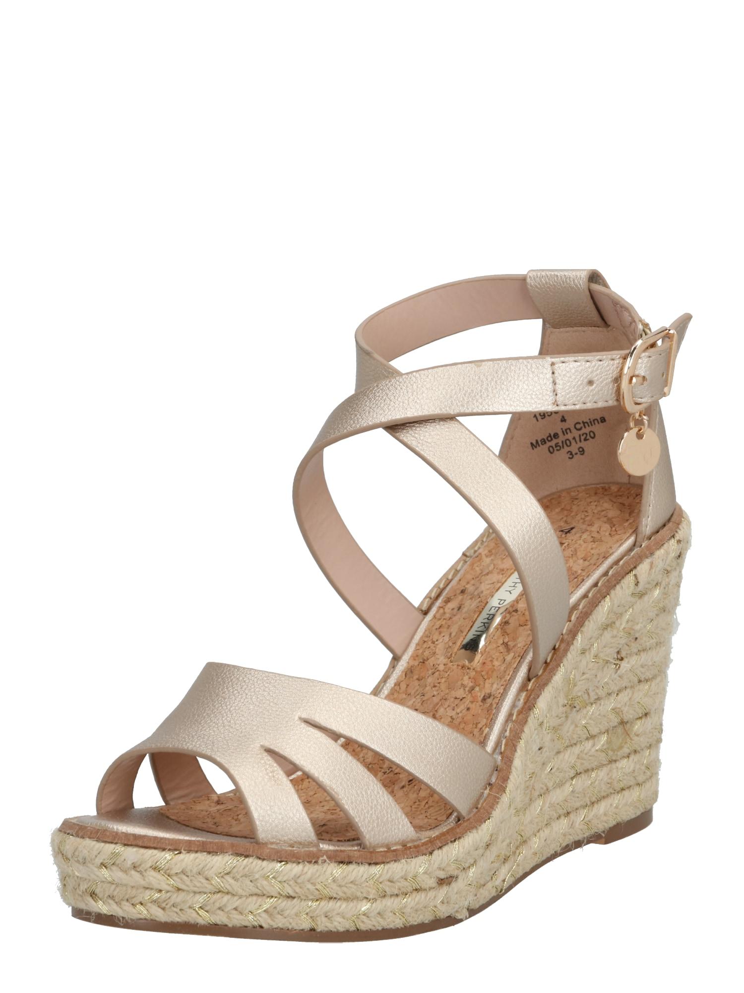 Dorothy Perkins Remienkové sandále 'Rolly'  zlatá