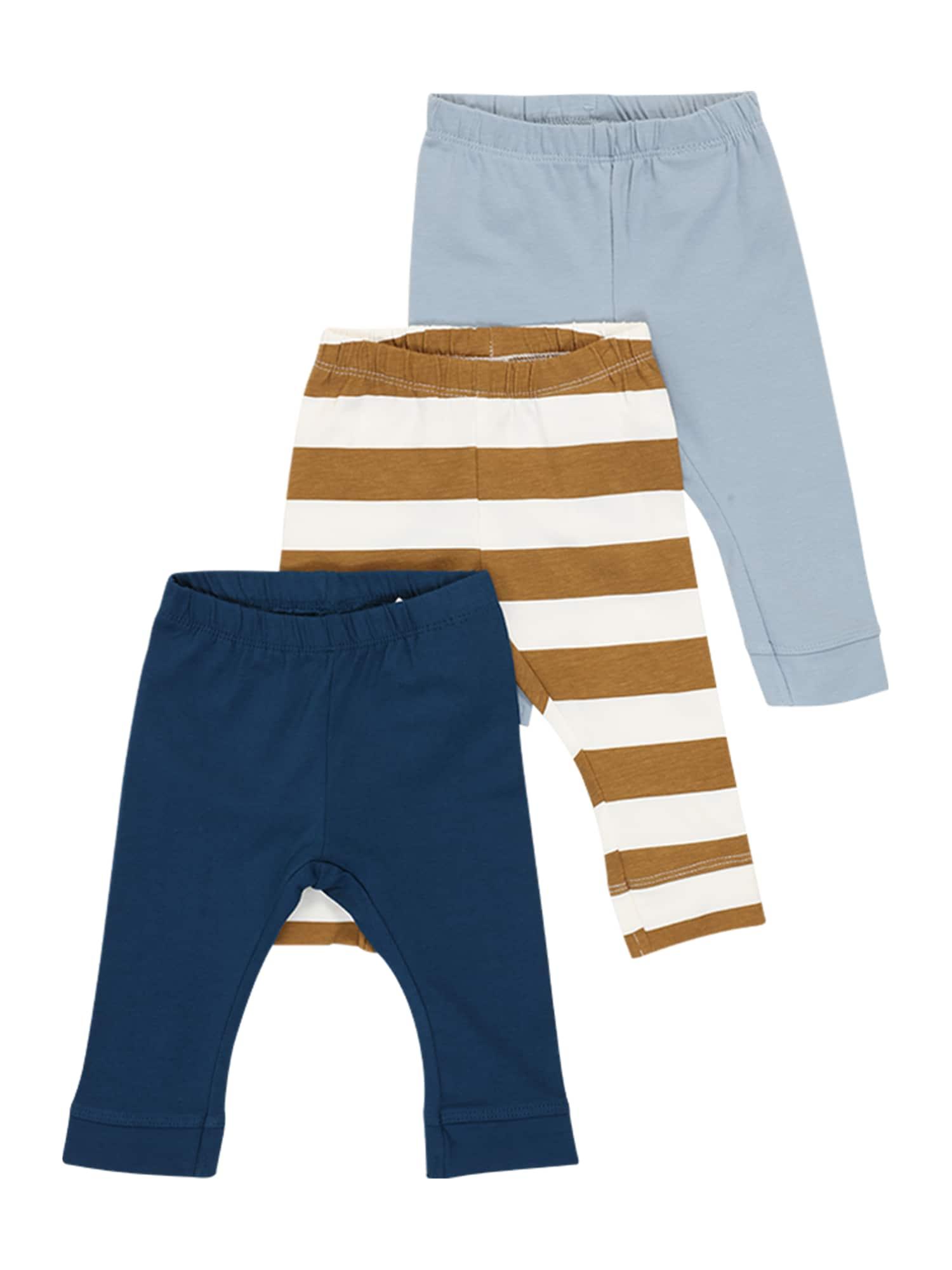 NAME IT Miego kostiumas 'John' balta / ruda / šviesiai mėlyna / tamsiai mėlyna