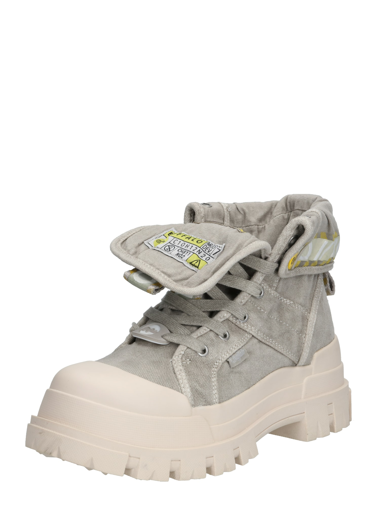 BUFFALO Auliniai batai su kulniuku 'ASPHA HI' balta / akmens