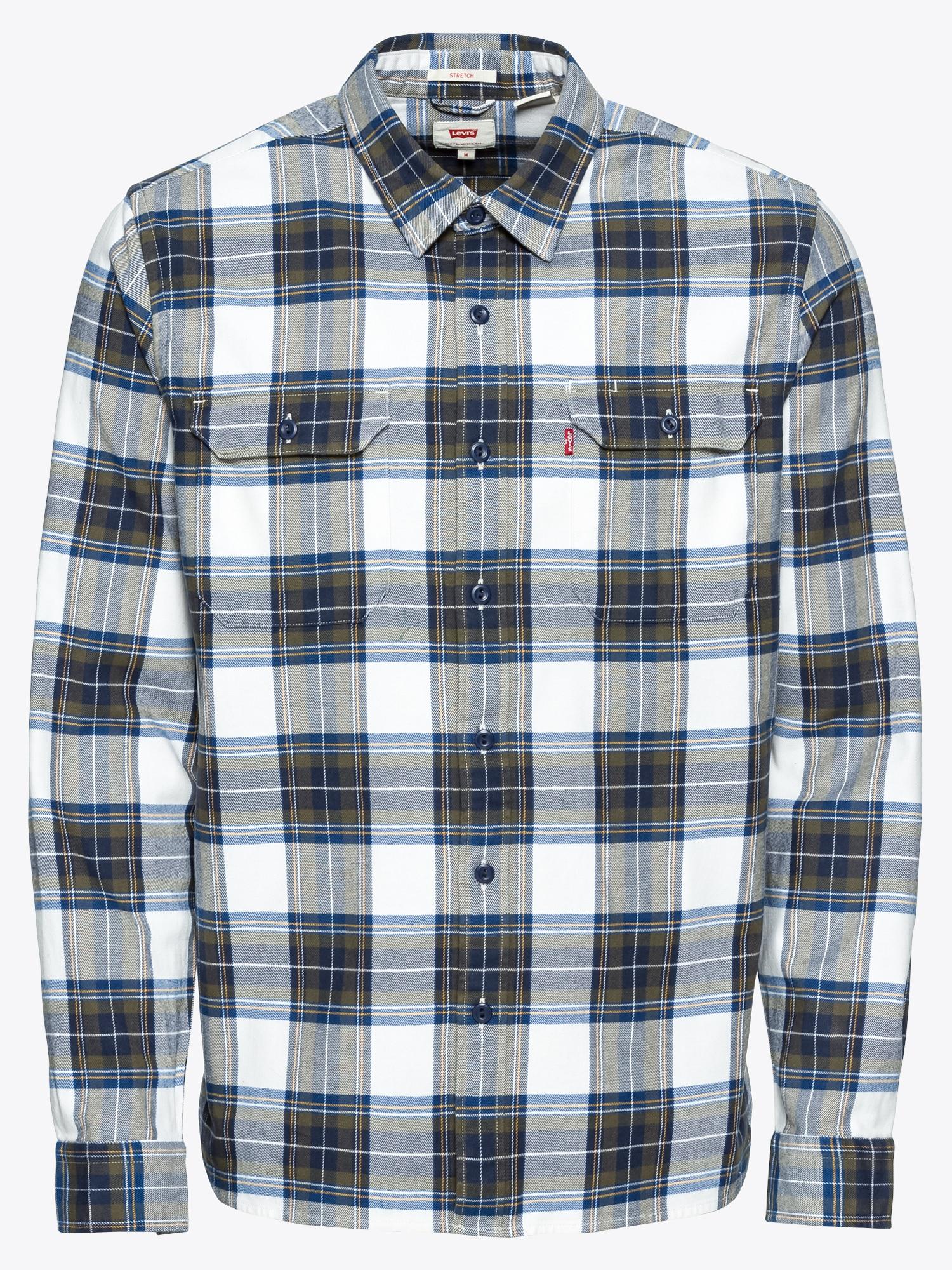 Donkerblauw Heren Overhemd.Levis Heren Overhemd Jacksonworker Donkerblauw Olijfgroen Wit Shop